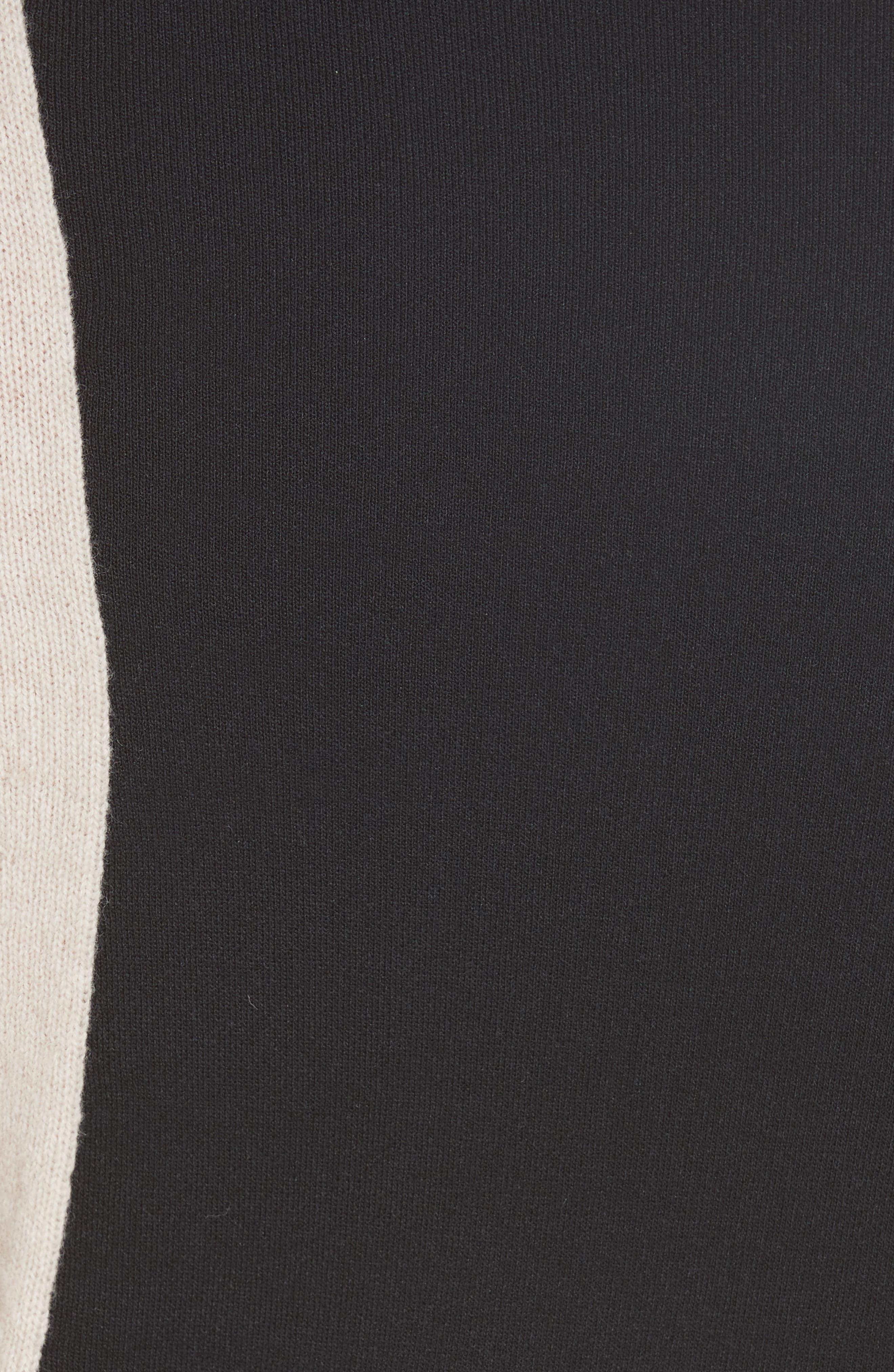 Colorblock Wool Blend Turtleneck Sweater,                             Alternate thumbnail 5, color,                             BLACK/ NUT