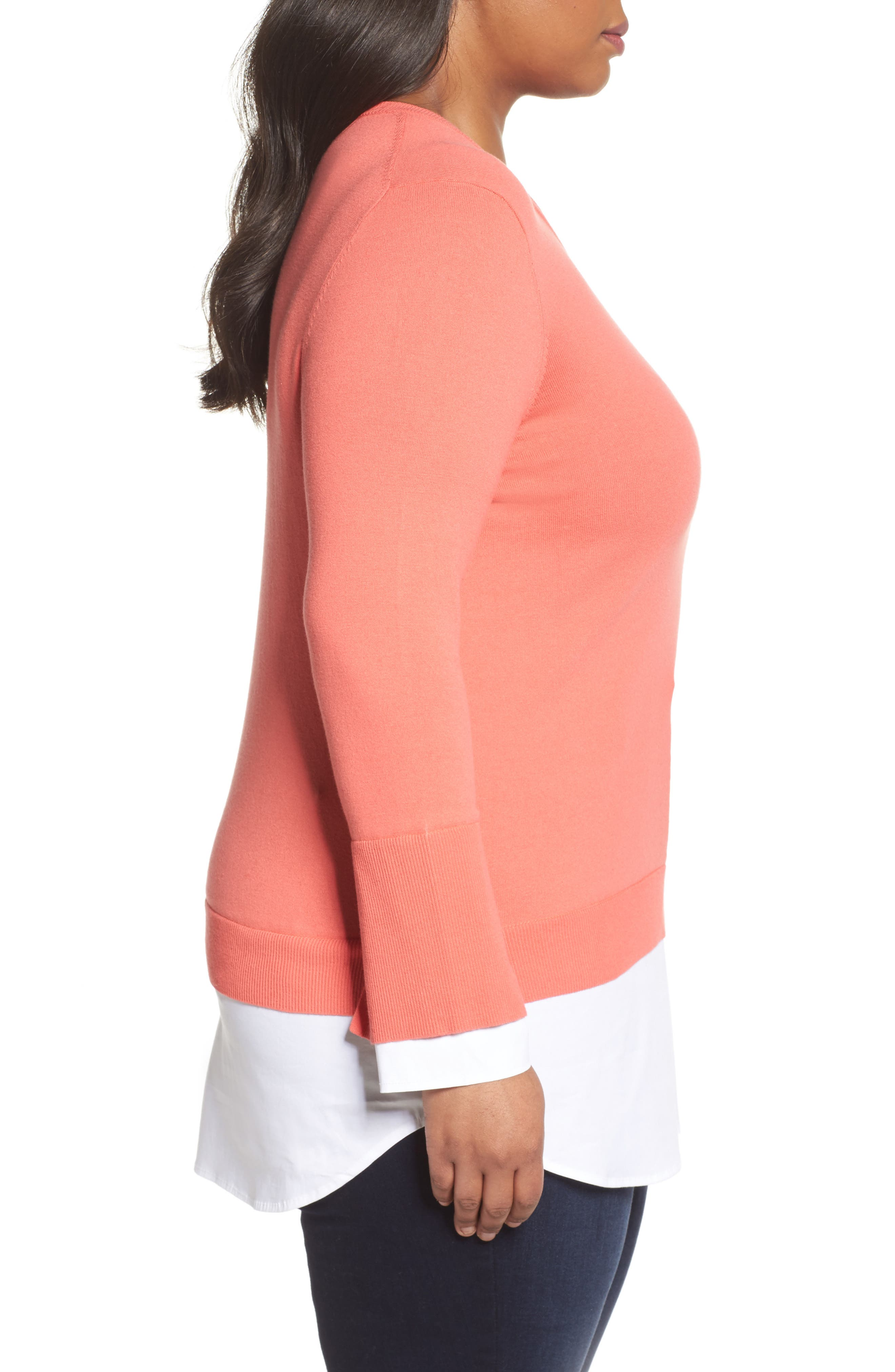Layered Look Sweater,                             Alternate thumbnail 10, color,