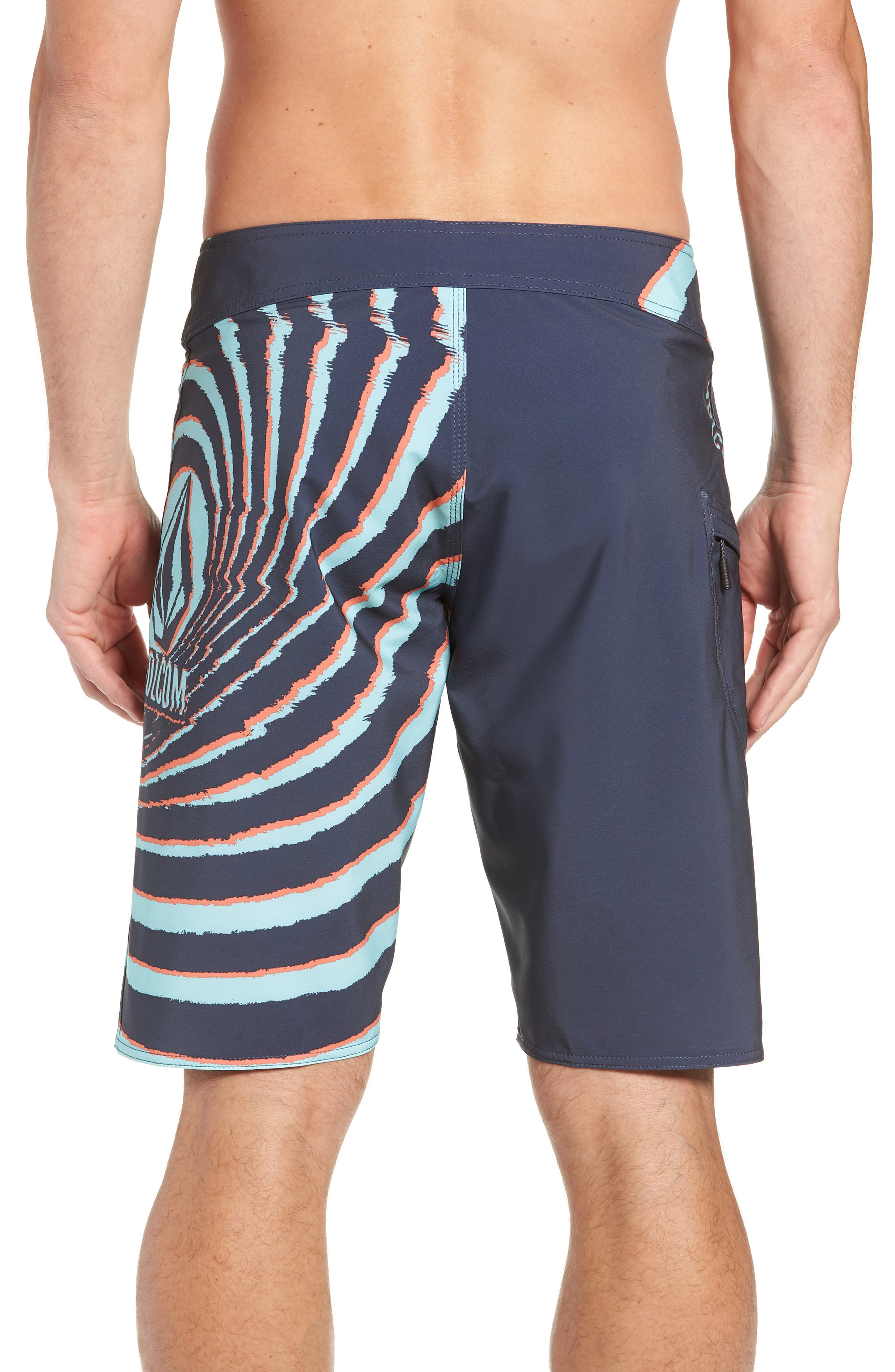 Lido Block Mod Board Shorts,                             Alternate thumbnail 2, color,                             MEDIUM BLUE