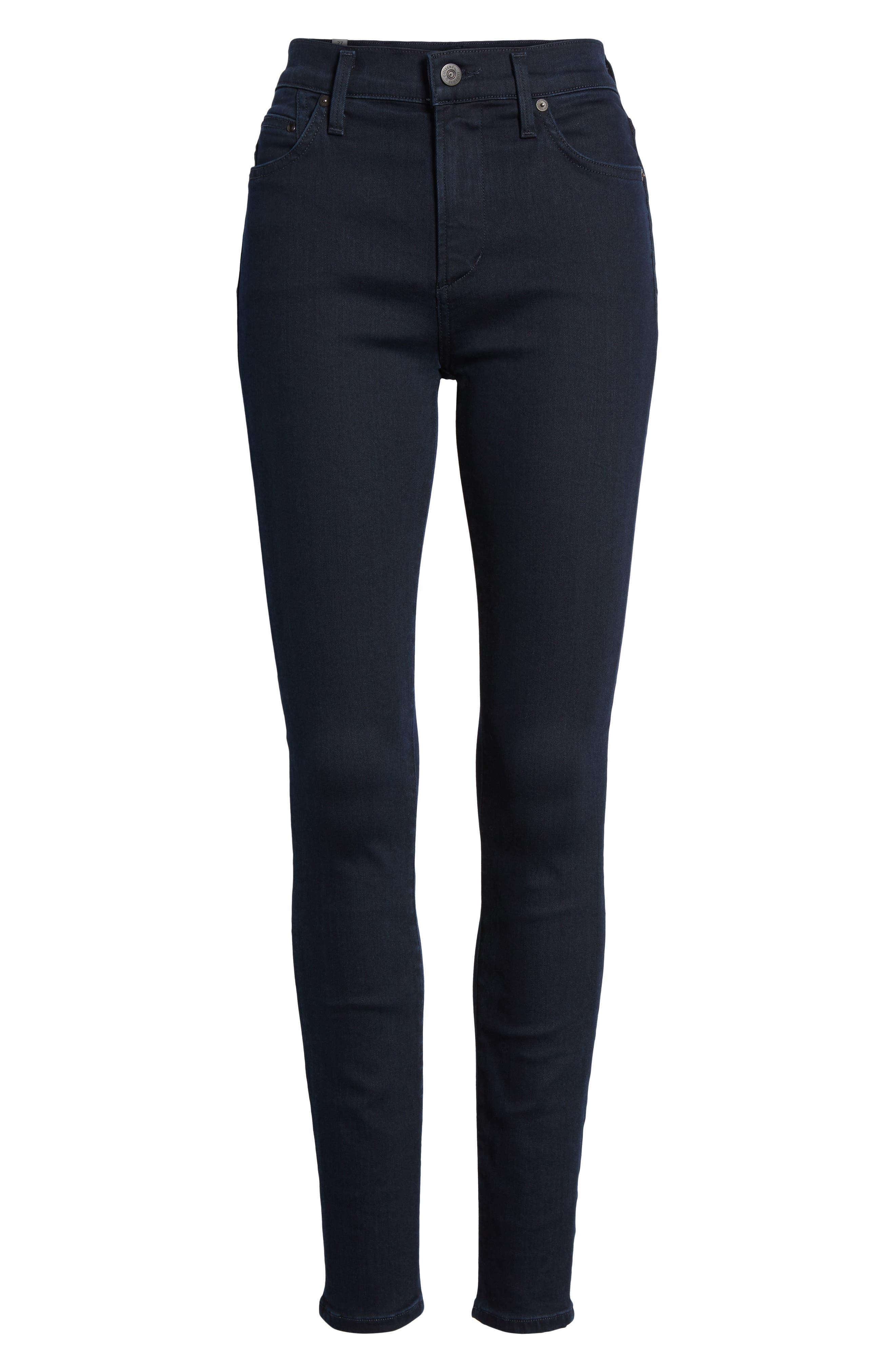 Rocket High Waist Skinny Jeans,                             Alternate thumbnail 7, color,                             409