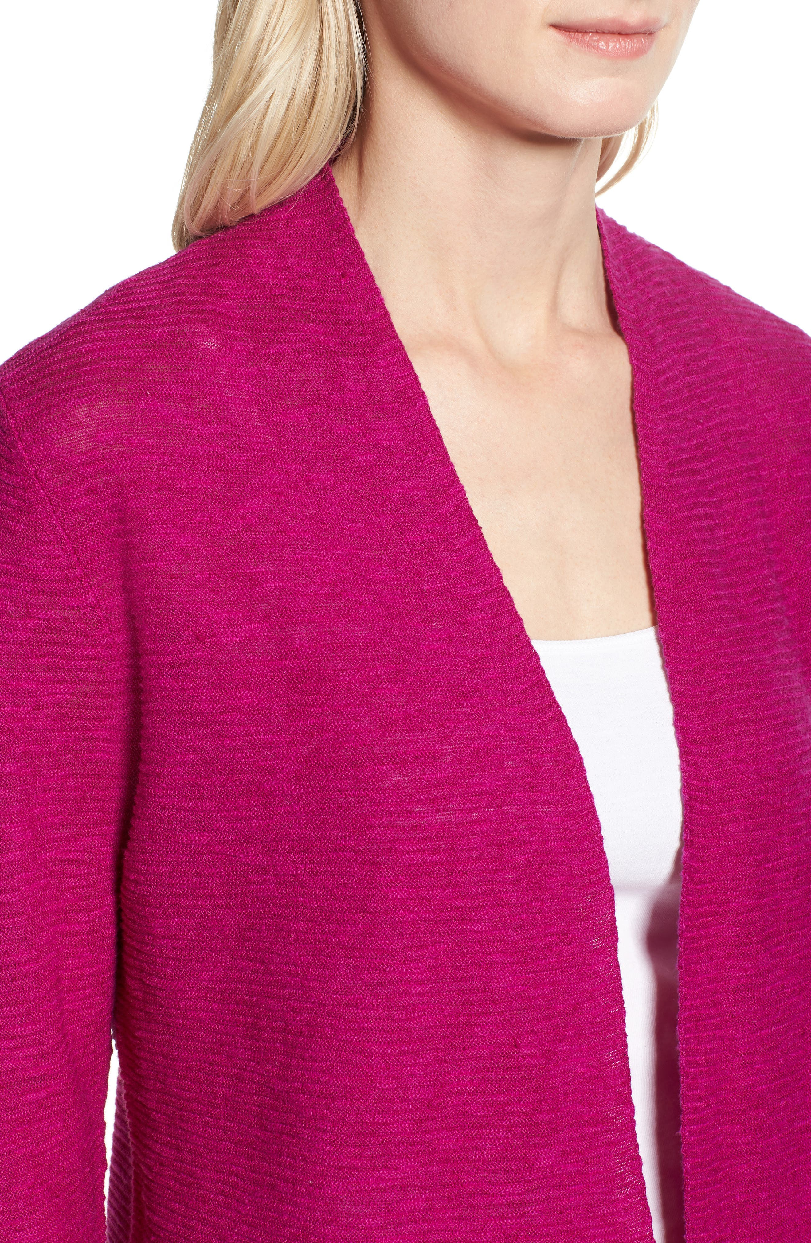 Simple Organic Linen & Cotton Cardigan,                             Alternate thumbnail 13, color,