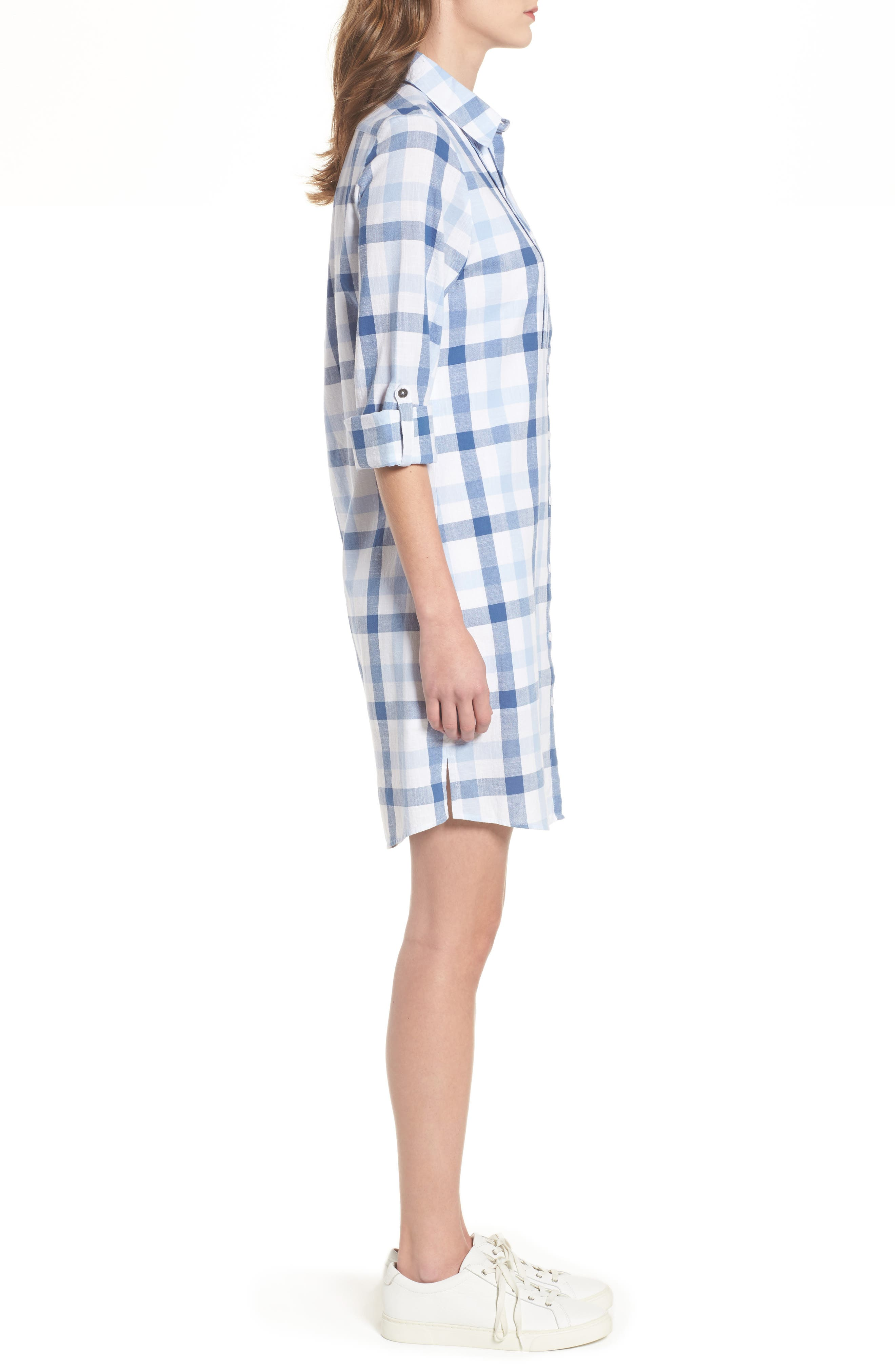 Bamburgh Shirtdress,                             Alternate thumbnail 3, color,                             400