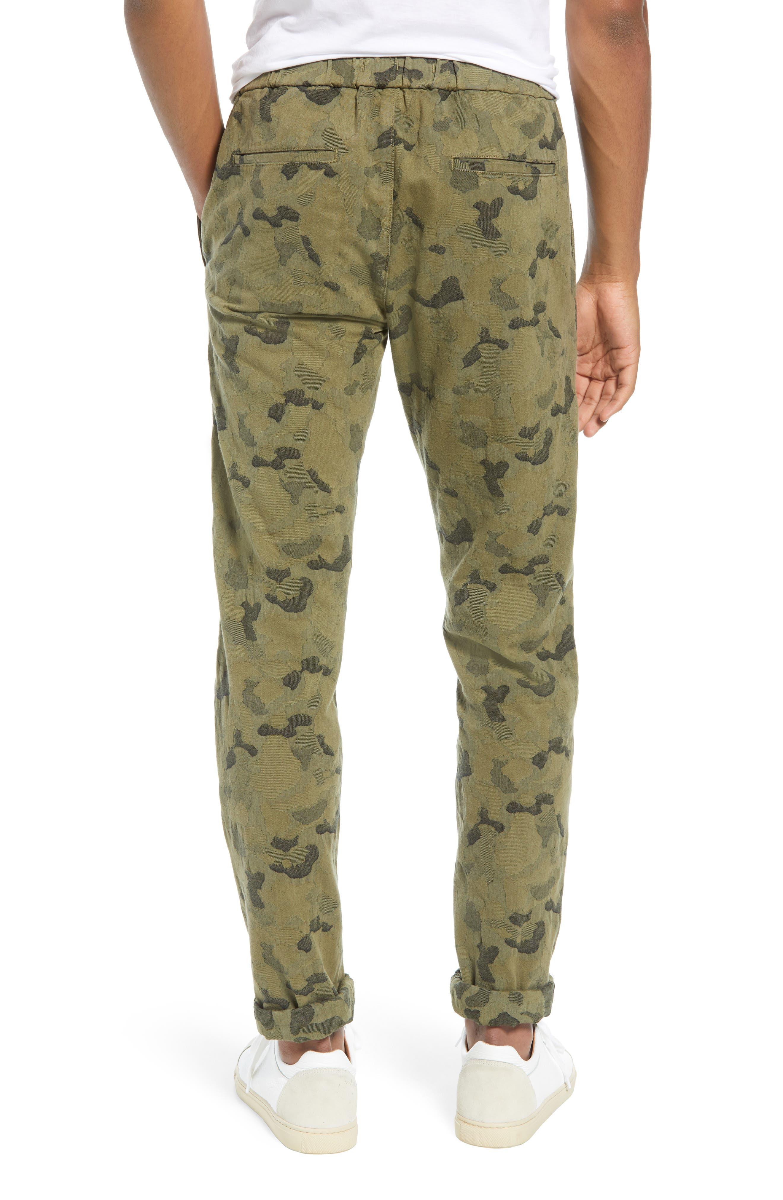 Camo Jacquard Slim Pants,                             Alternate thumbnail 2, color,                             SPRIG