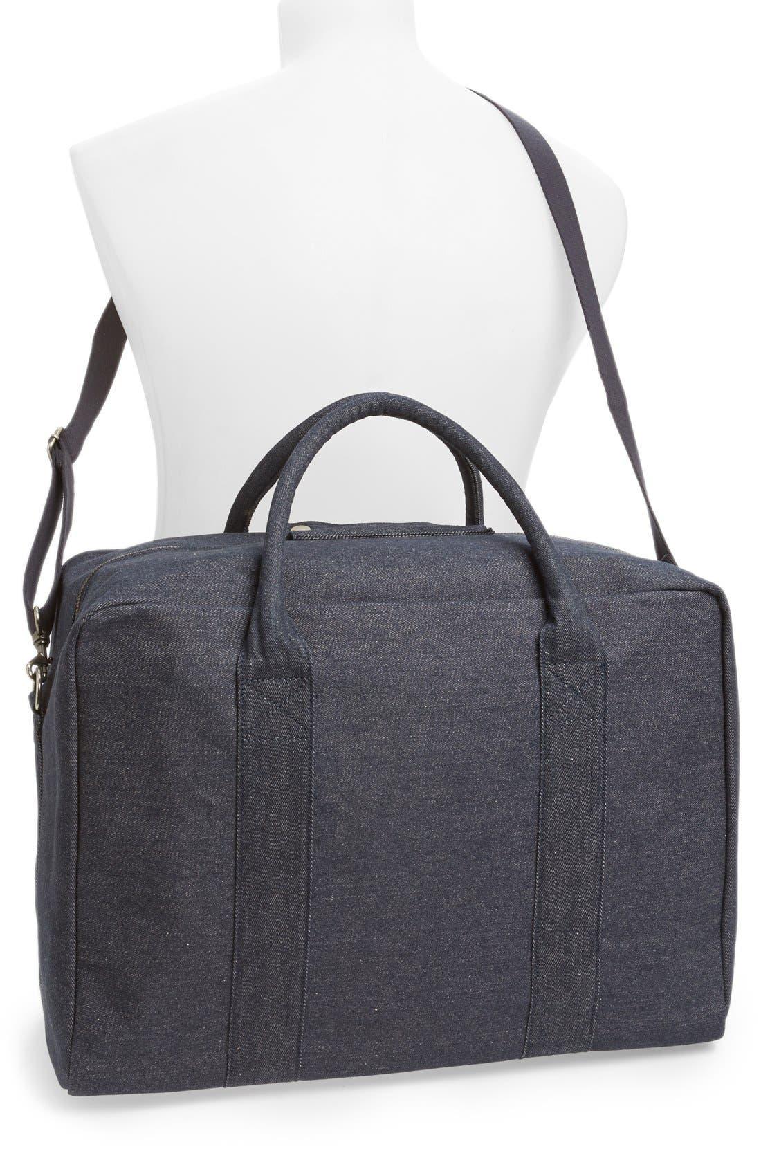 Denim Duffle Bag,                             Alternate thumbnail 3, color,                             461