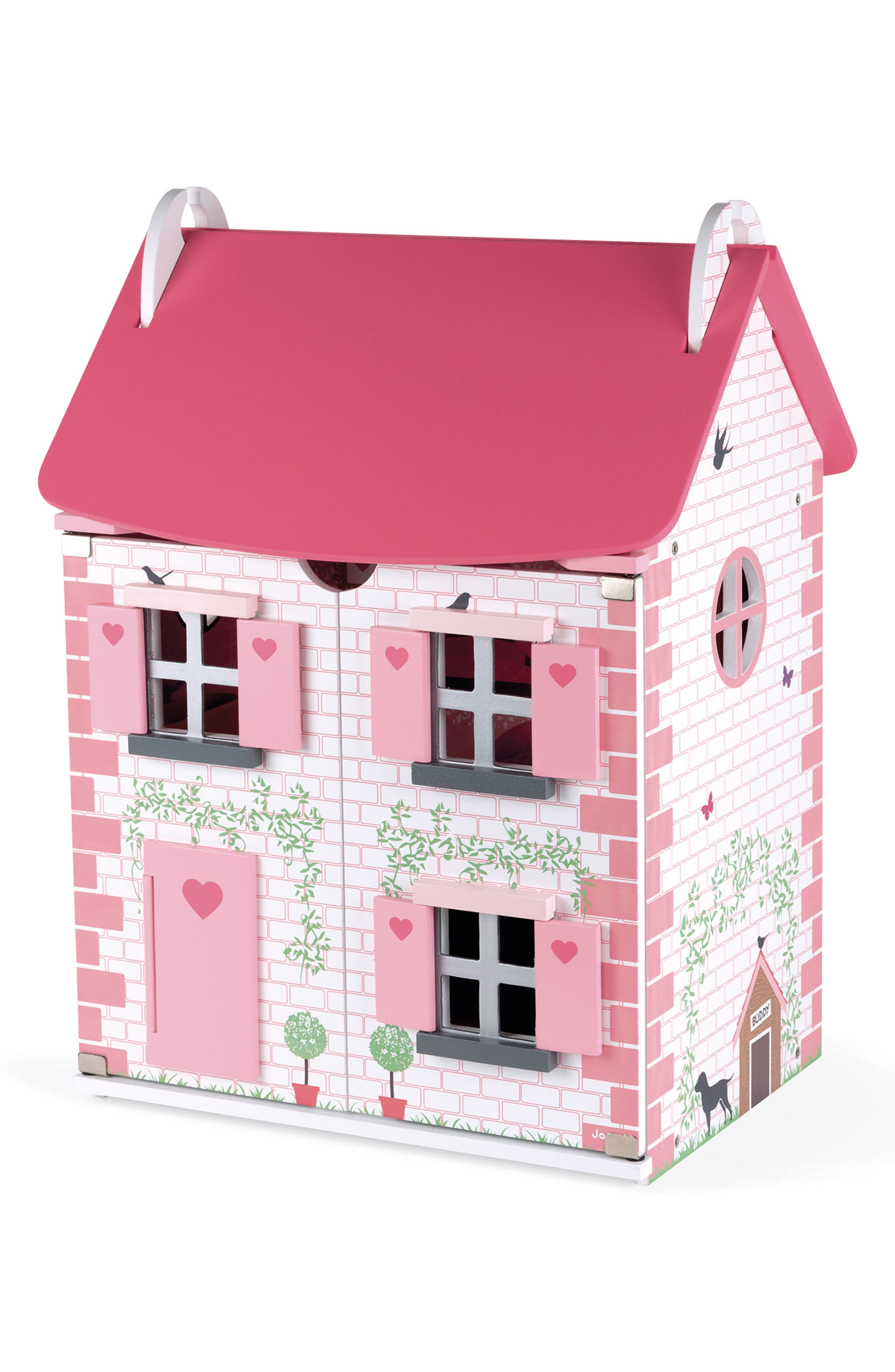 Wood Doll House,                         Main,                         color, PINK