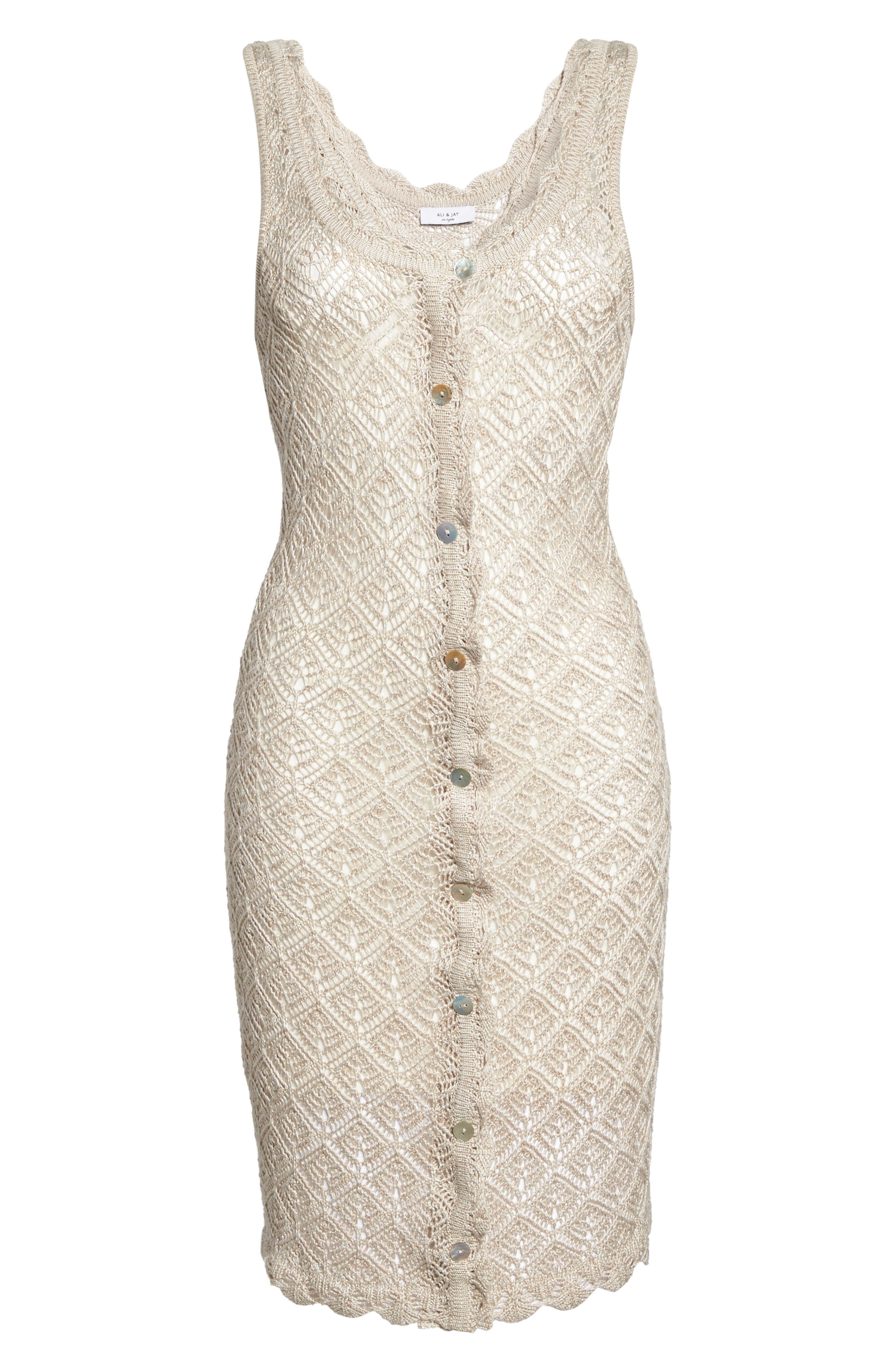 Picnic By The Lagoon Lace Dress,                             Alternate thumbnail 6, color,                             261
