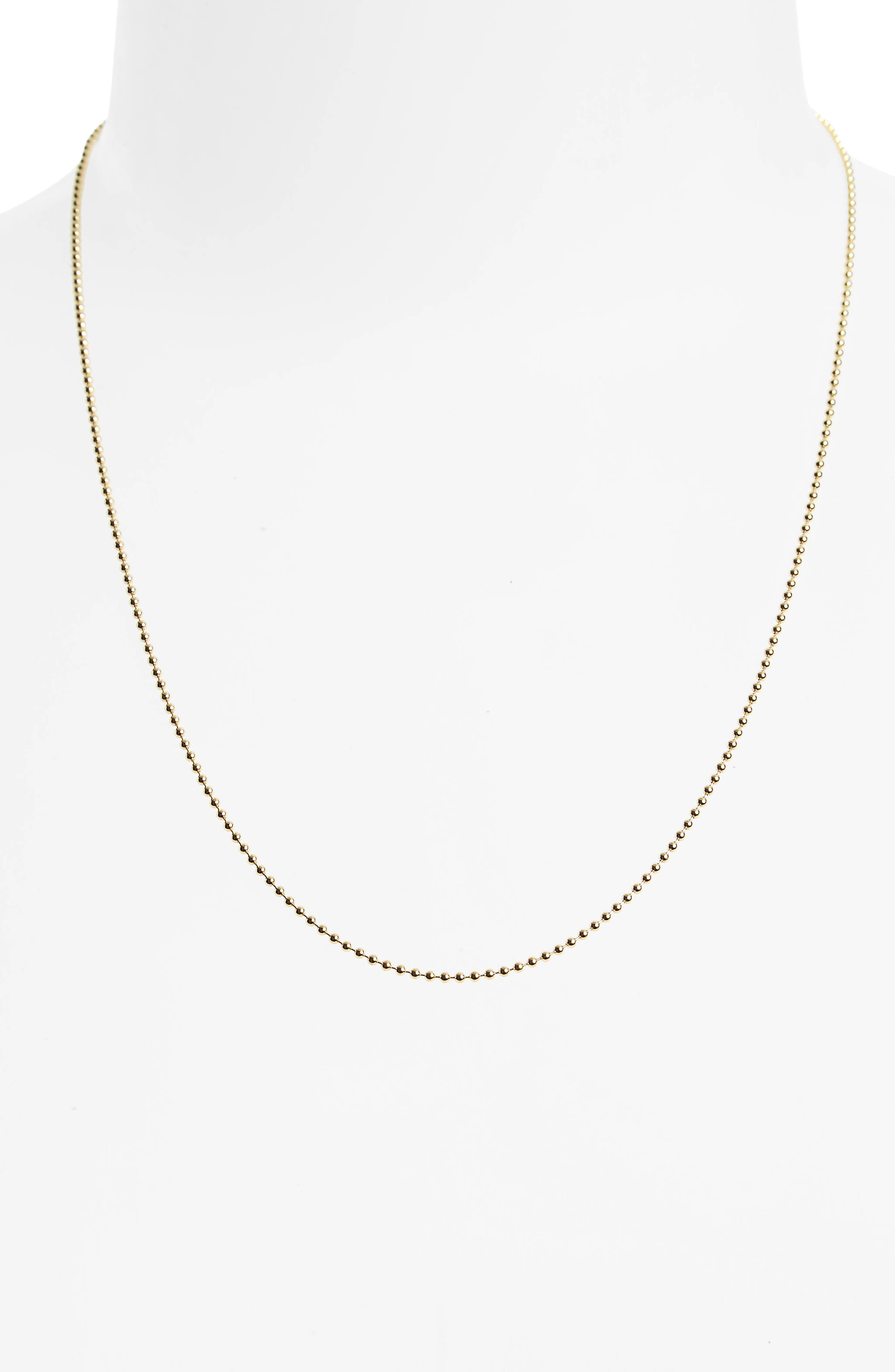Temple St. Clair 18-Inch Ball Chain Necklace,                             Alternate thumbnail 2, color,                             YELLOW GOLD