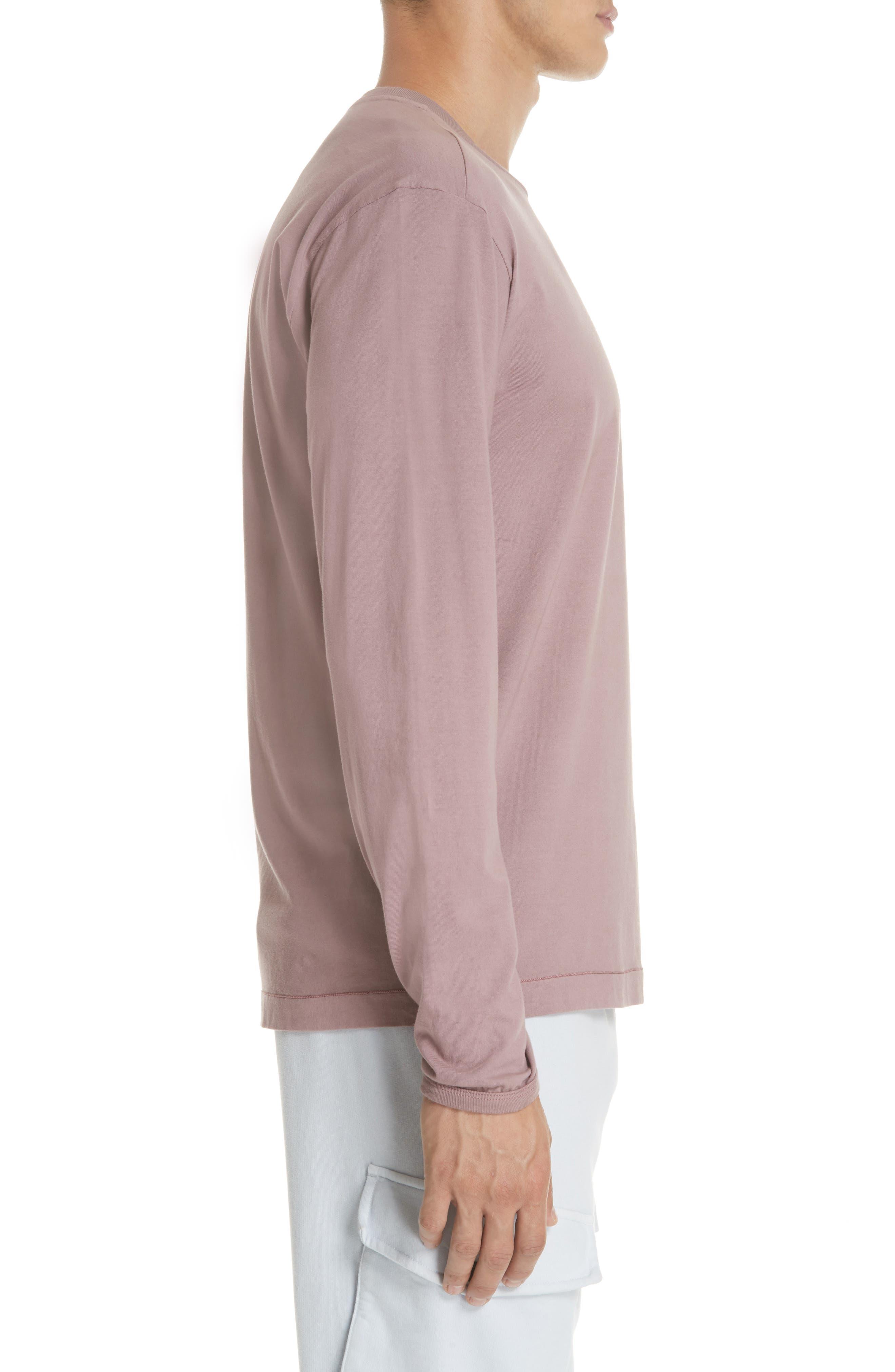 Long Sleeve T-Shirt,                             Alternate thumbnail 3, color,                             ROSE QUARTZ