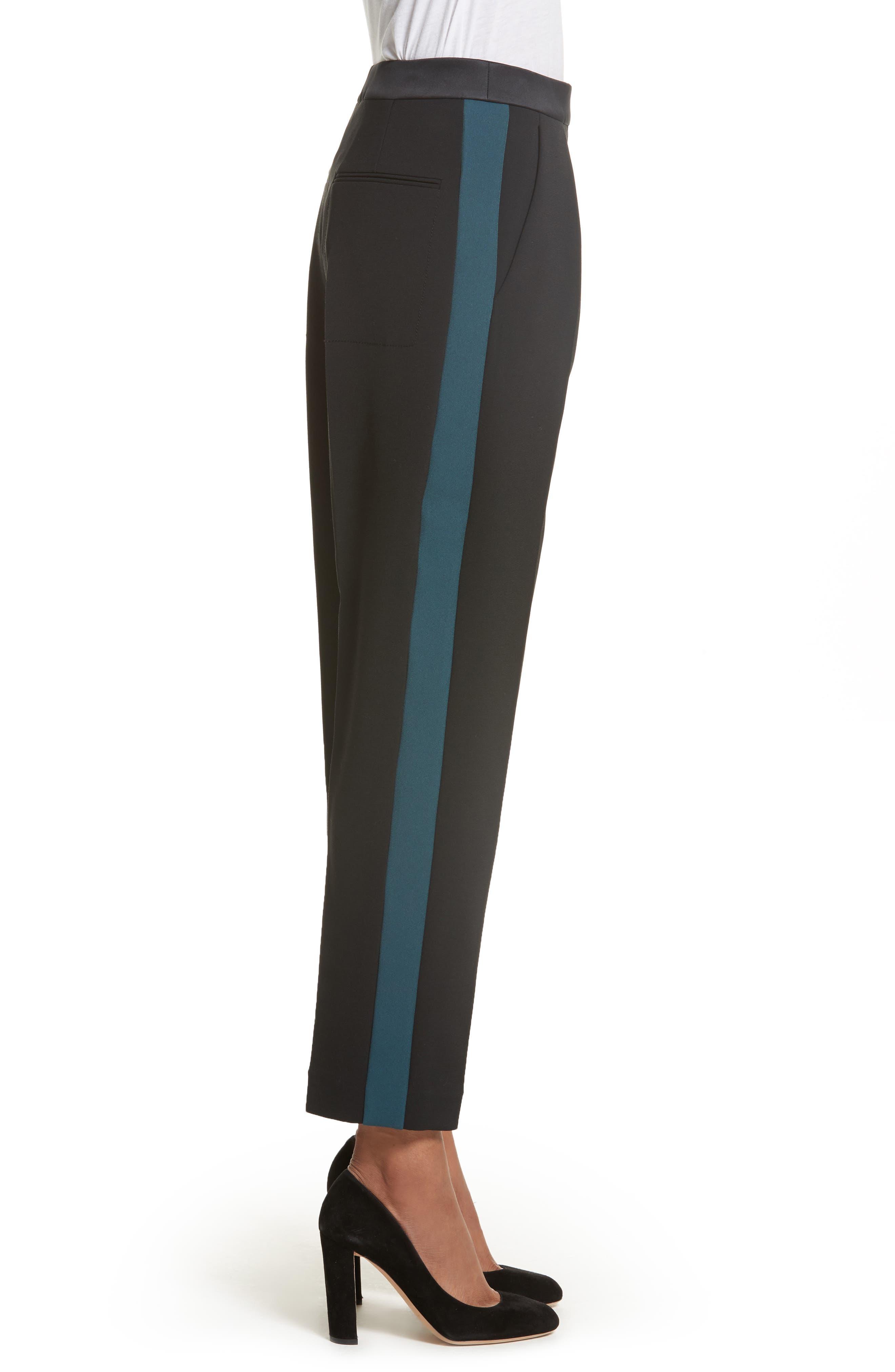 Surikov Crop Tuxedo Pants,                             Alternate thumbnail 3, color,