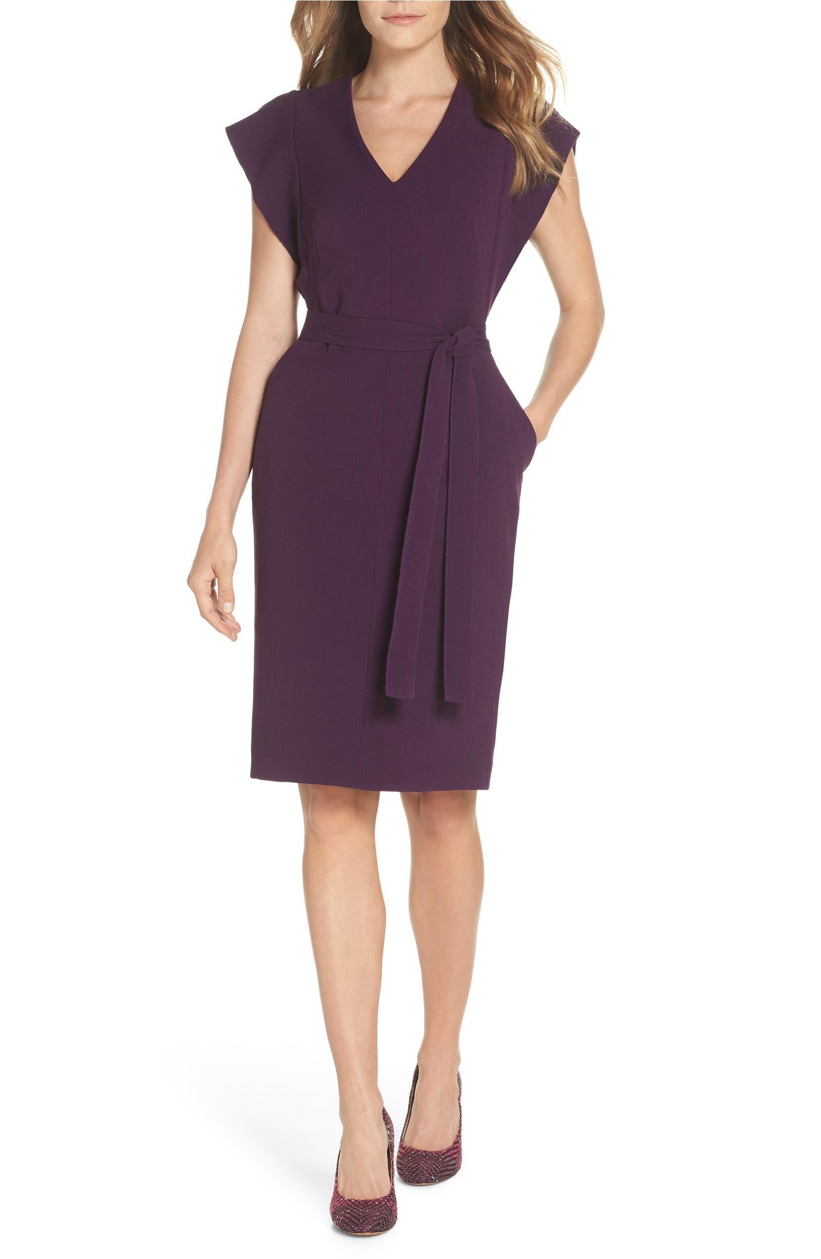 14a74919355 Eliza J Ruffle Sleeve Sheath Dress