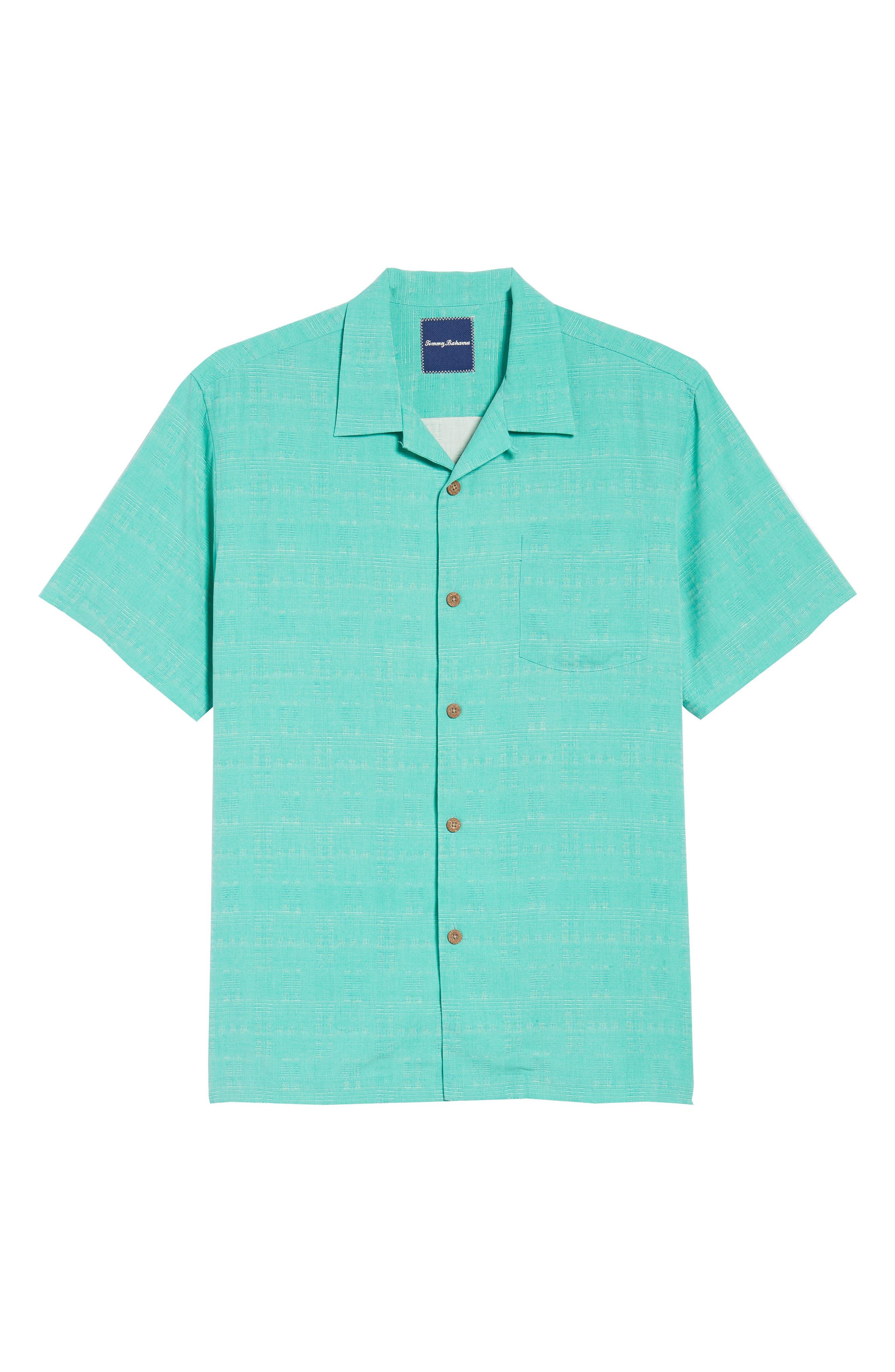 'Geo-Rific Jacquard' Original Fit Silk Camp Shirt,                             Alternate thumbnail 42, color,