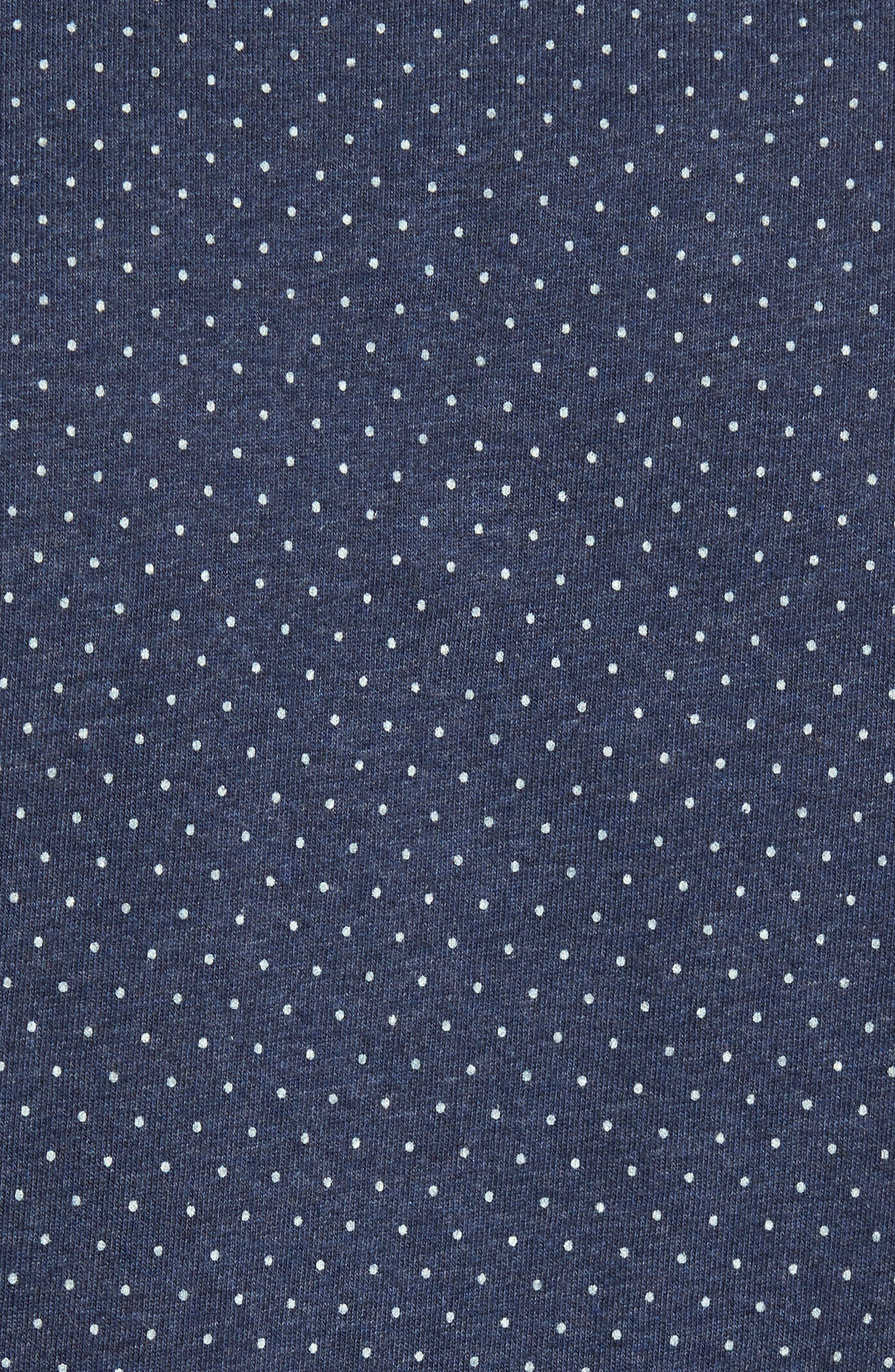 'Reworkd' Trim Fit Dot Print Mixed Media Sport Shirt,                             Alternate thumbnail 18, color,