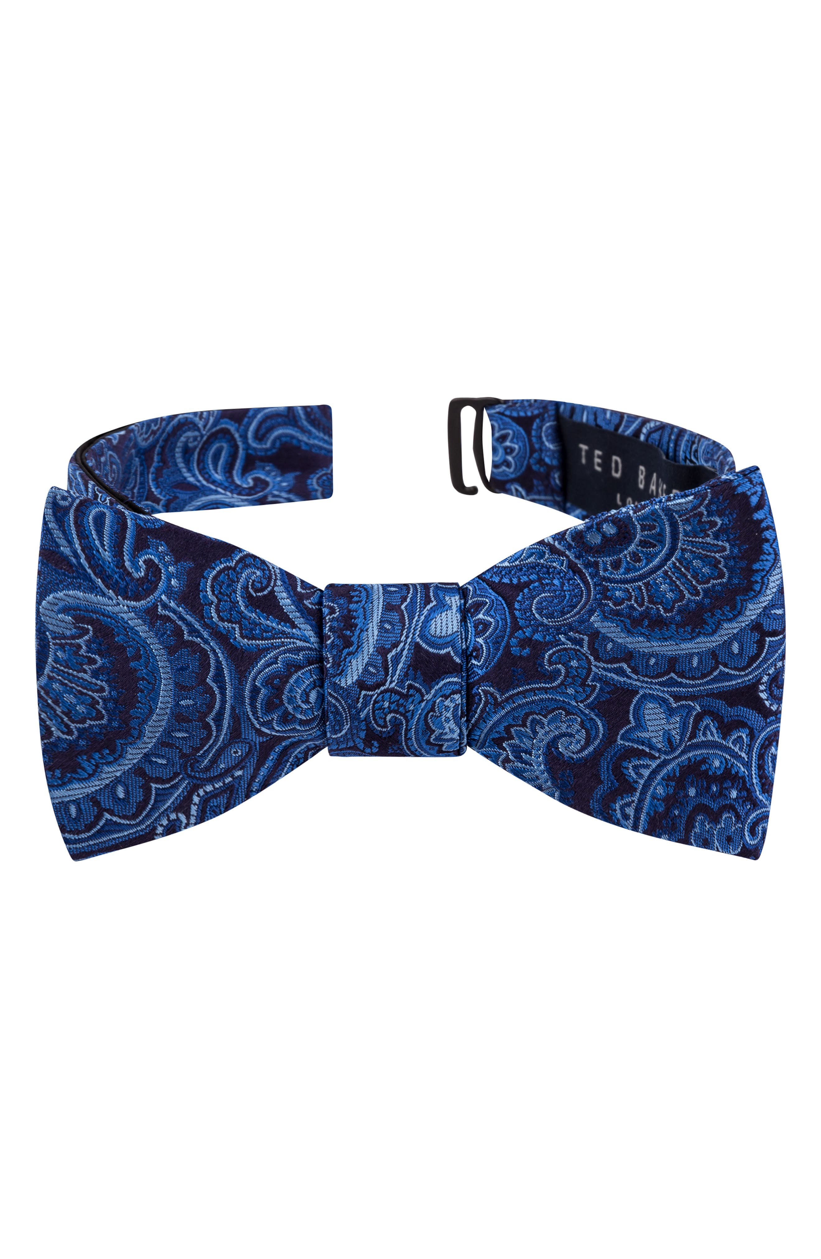 Edwardian Men's Fashion & Clothing Mens Ted Baker London Paisley Silk Bow Tie Size Regular - Blue $59.50 AT vintagedancer.com