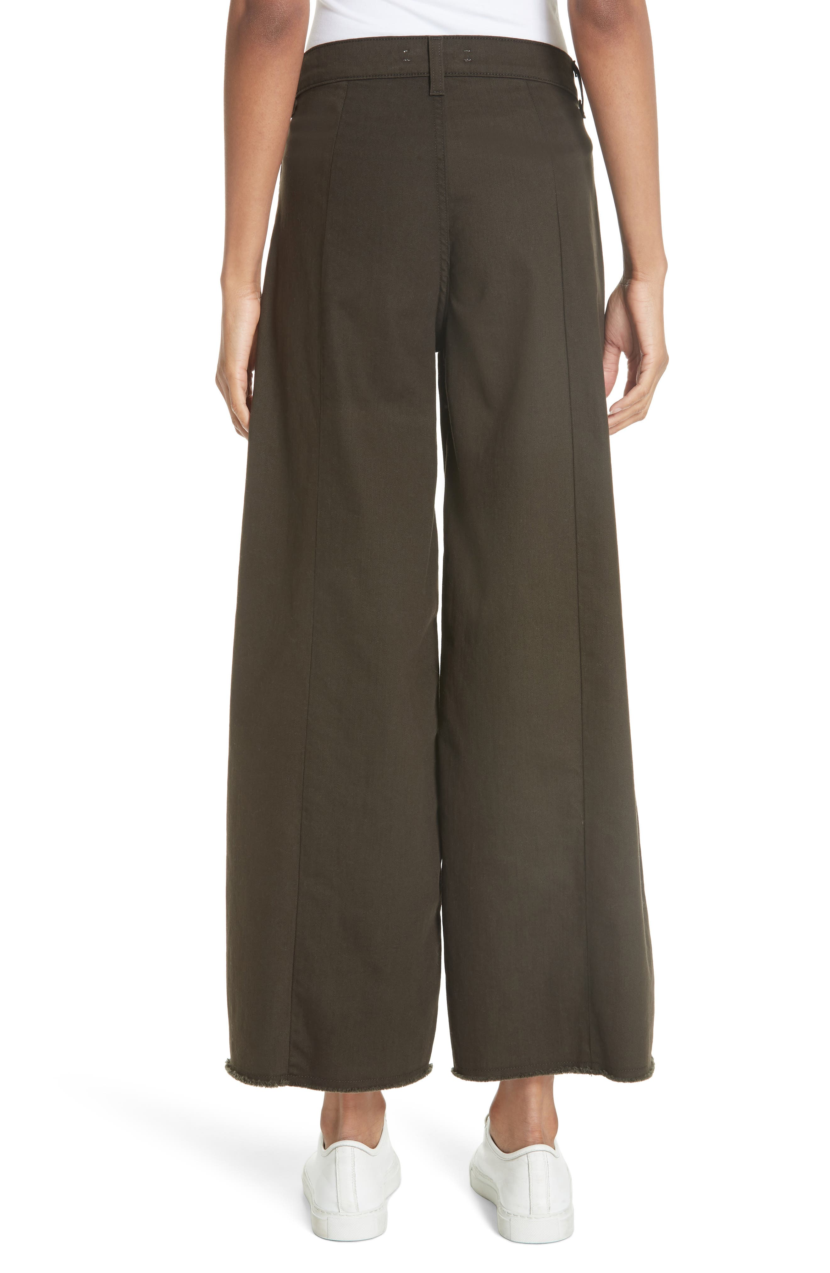 Carmine High Waist Wide Leg Crop Jeans,                             Alternate thumbnail 2, color,                             COMBAT