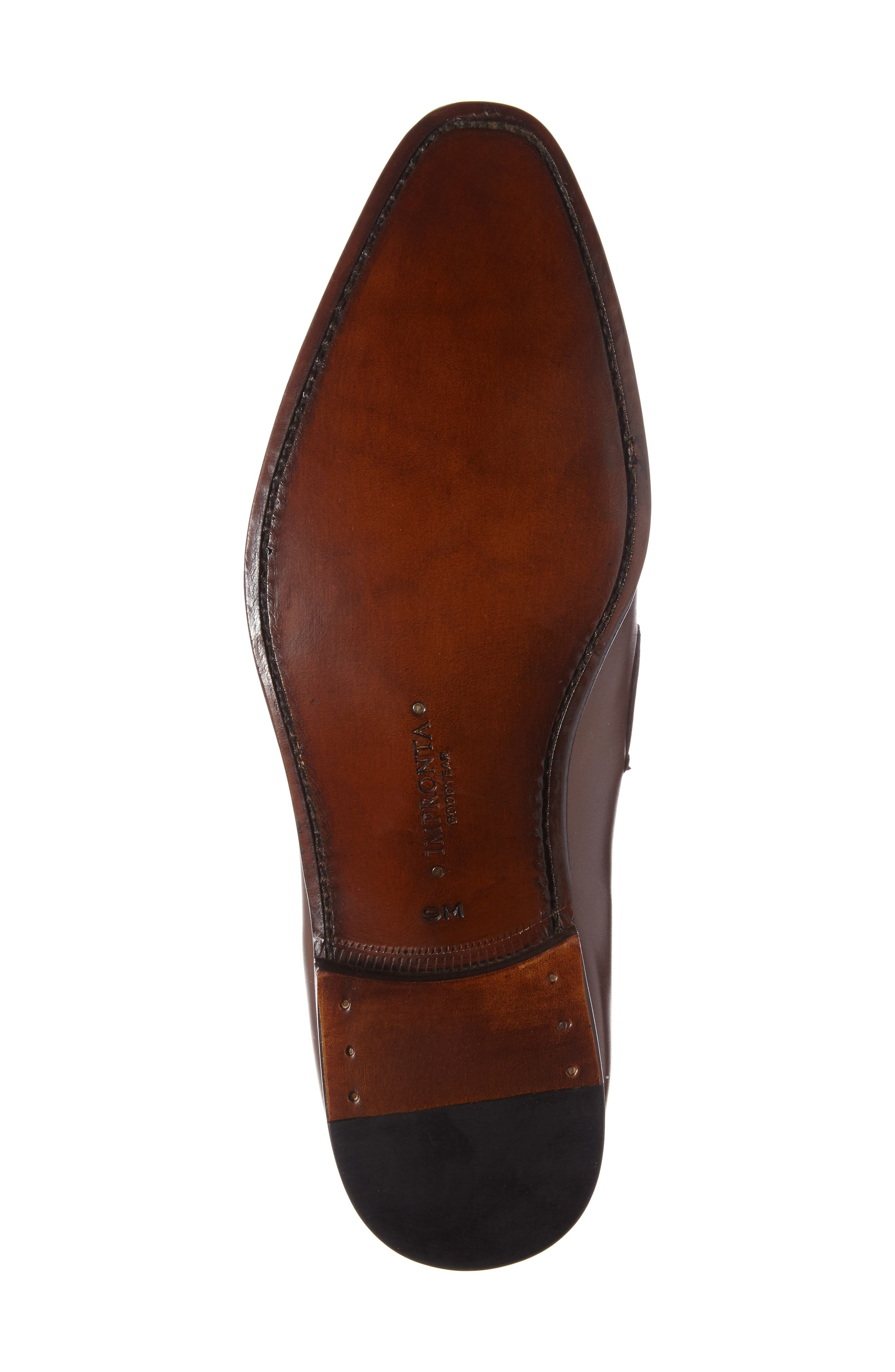 by Mezlan G124 Apron Toe Loafer,                             Alternate thumbnail 4, color,                             COGNAC
