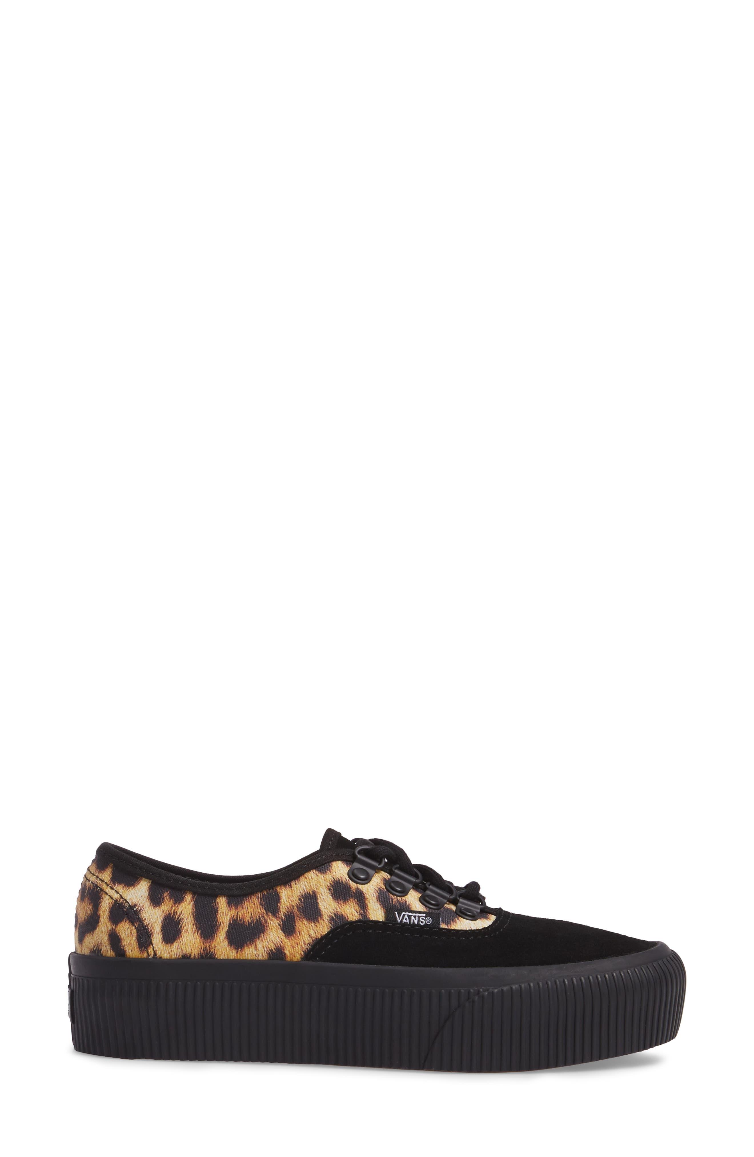 Authentic 2.0 Platform Sneaker,                             Alternate thumbnail 3, color,                             001