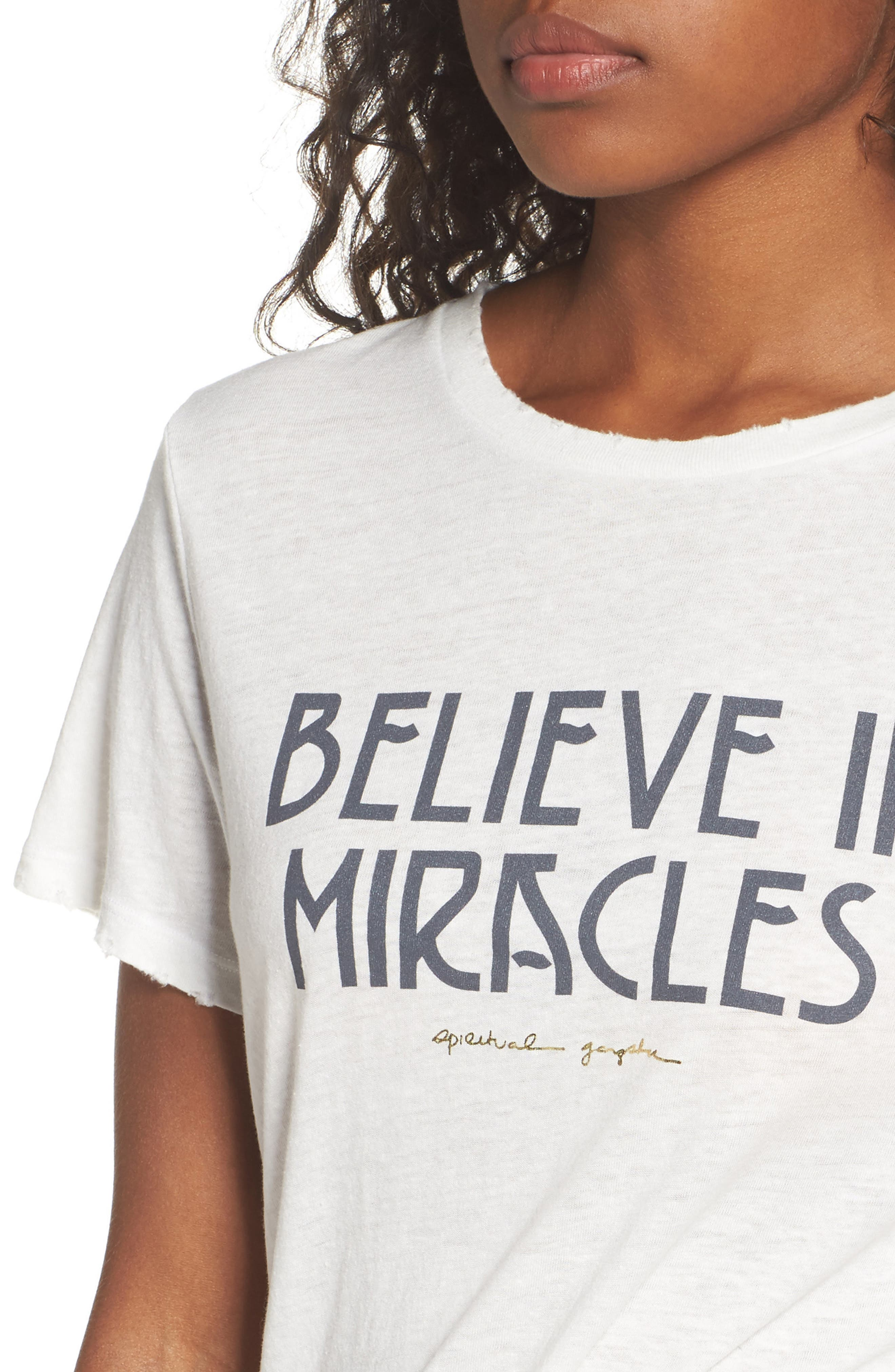 Believe In Miracles Tee,                             Alternate thumbnail 4, color,                             114