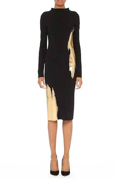 Gold Brushstroke Knit Dress, video thumbnail