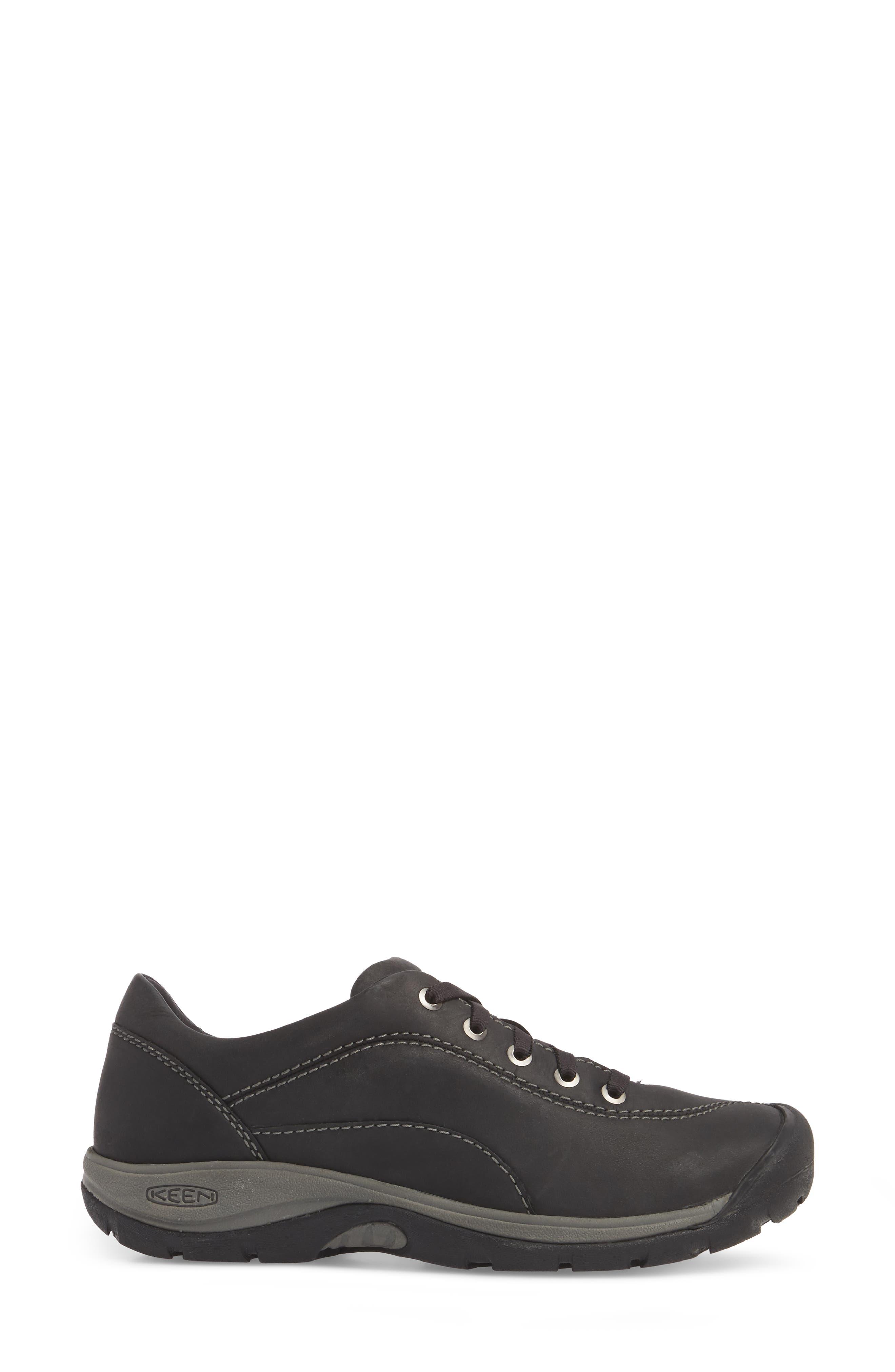 Presidio II Sneaker,                             Alternate thumbnail 3, color,                             BLACK/ STEEL GREY LEATHER