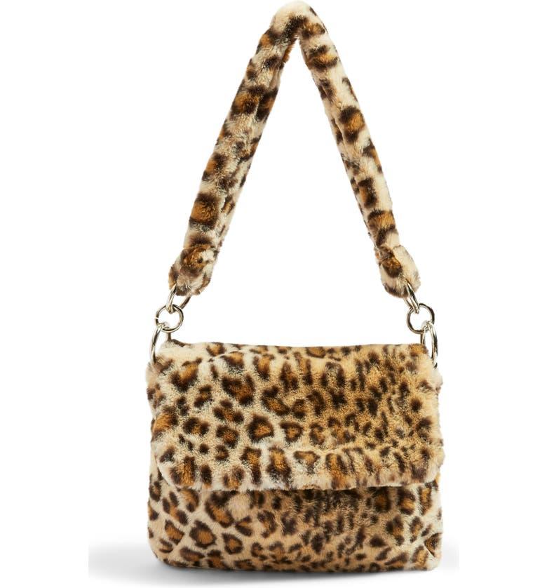 21d00227b0 Topshop Teddy Leopard Print Faux Fur Shoulder Bag