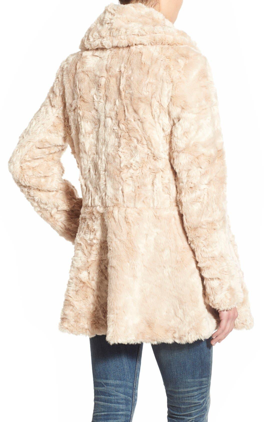 Swingy Faux Fur Jacket,                             Alternate thumbnail 3, color,                             650