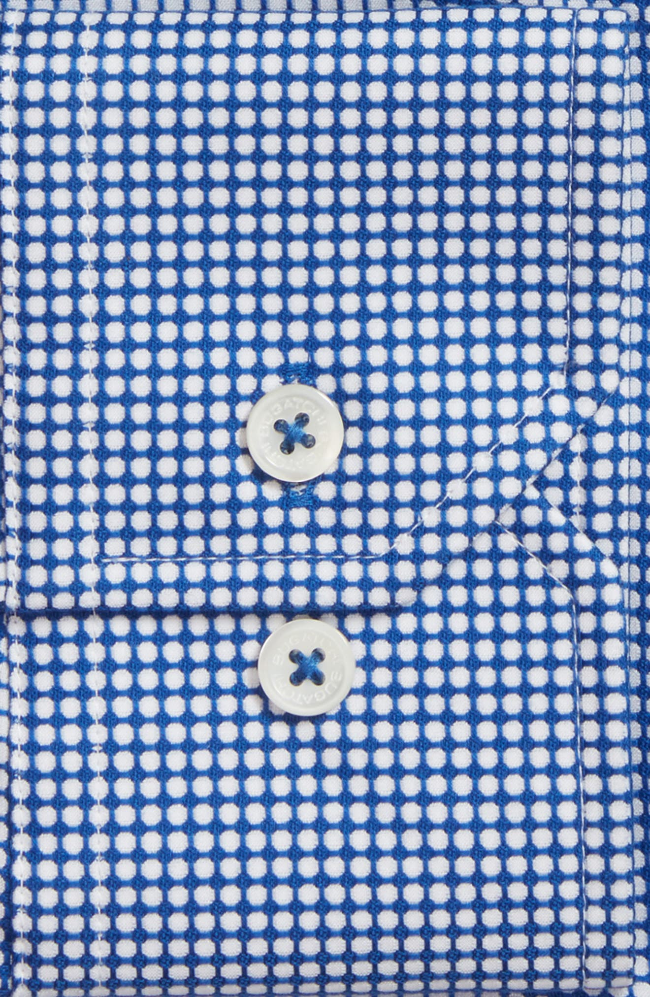 Trim Fit Dot Dress Shirt,                             Alternate thumbnail 2, color,                             411