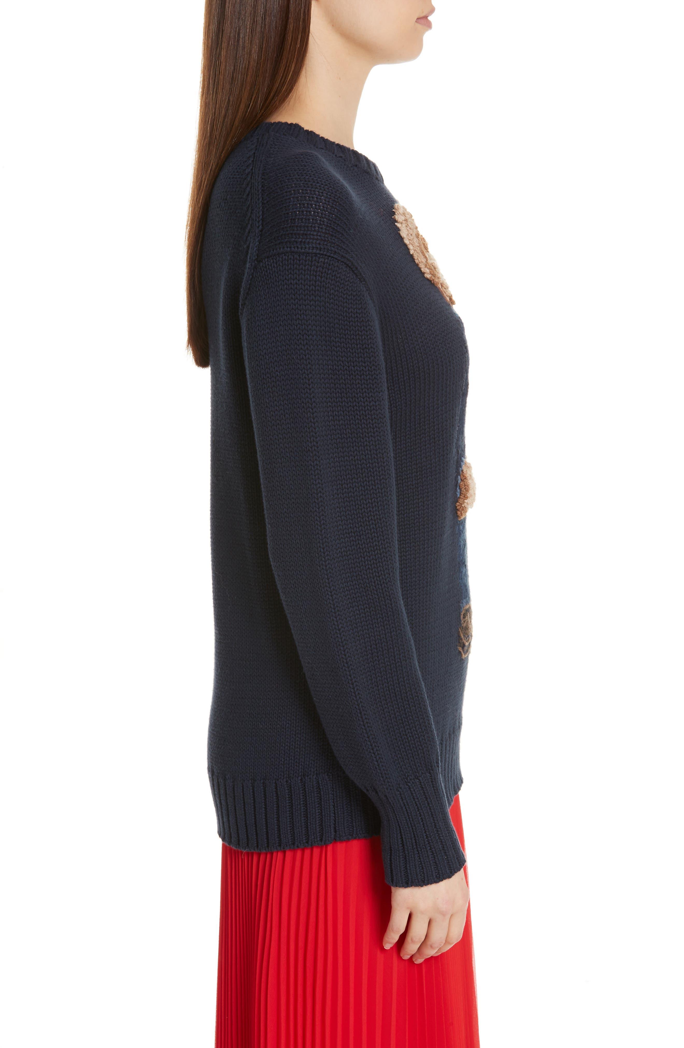 Bear Sweater,                             Alternate thumbnail 3, color,                             NAVY MULTI