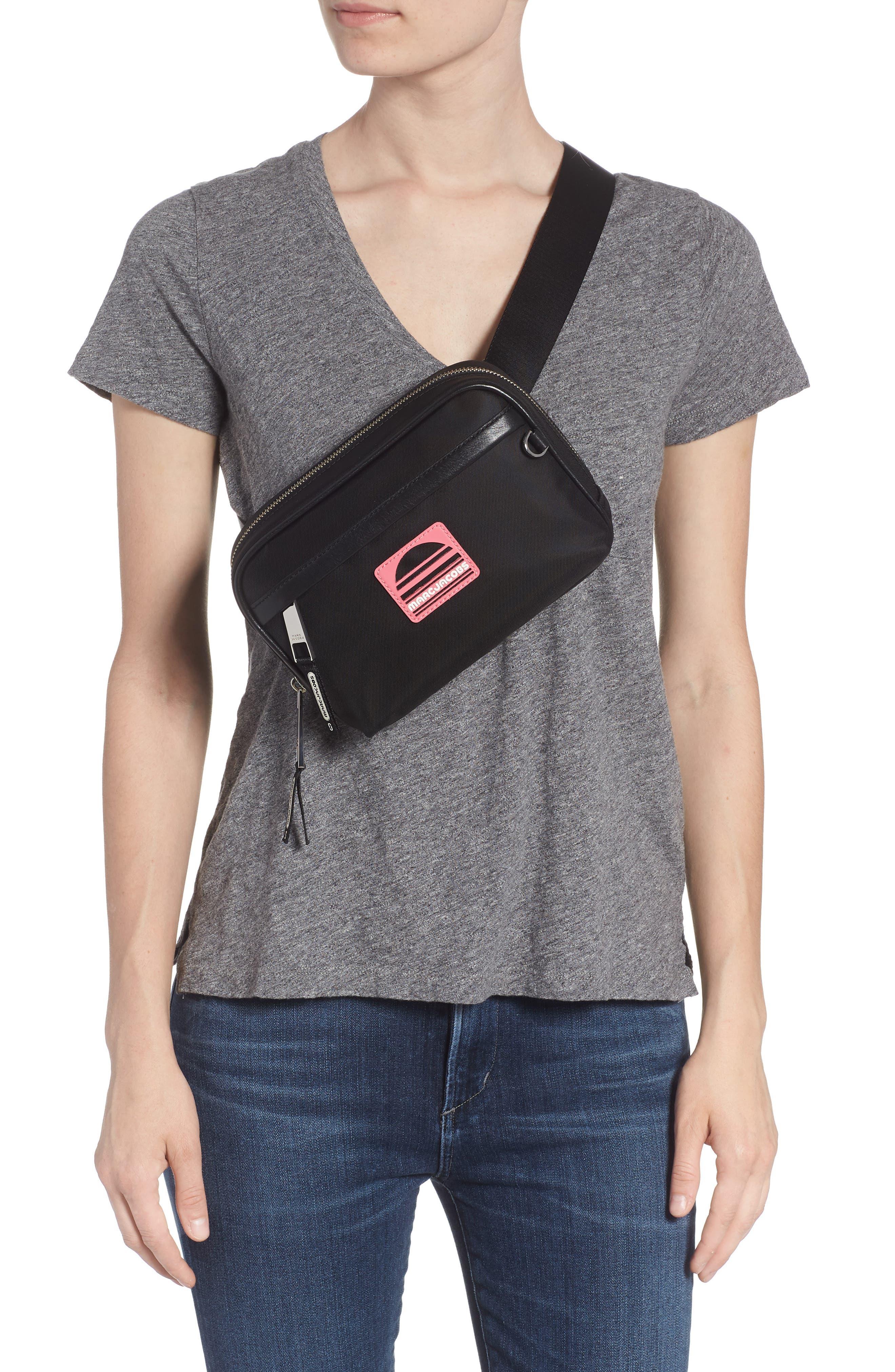 Sport Belt Bag,                             Alternate thumbnail 3, color,                             BLACK