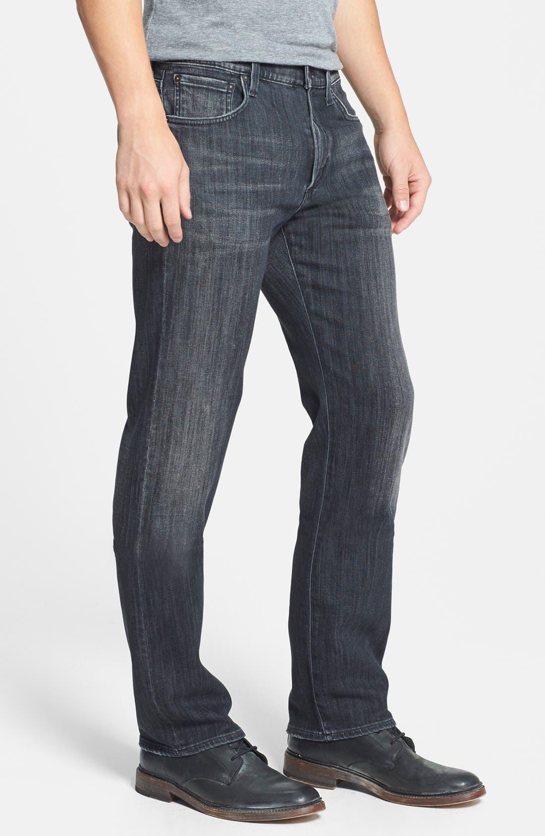 'Sid' Classic Straight Leg Jeans,                             Alternate thumbnail 4, color,                             CROW