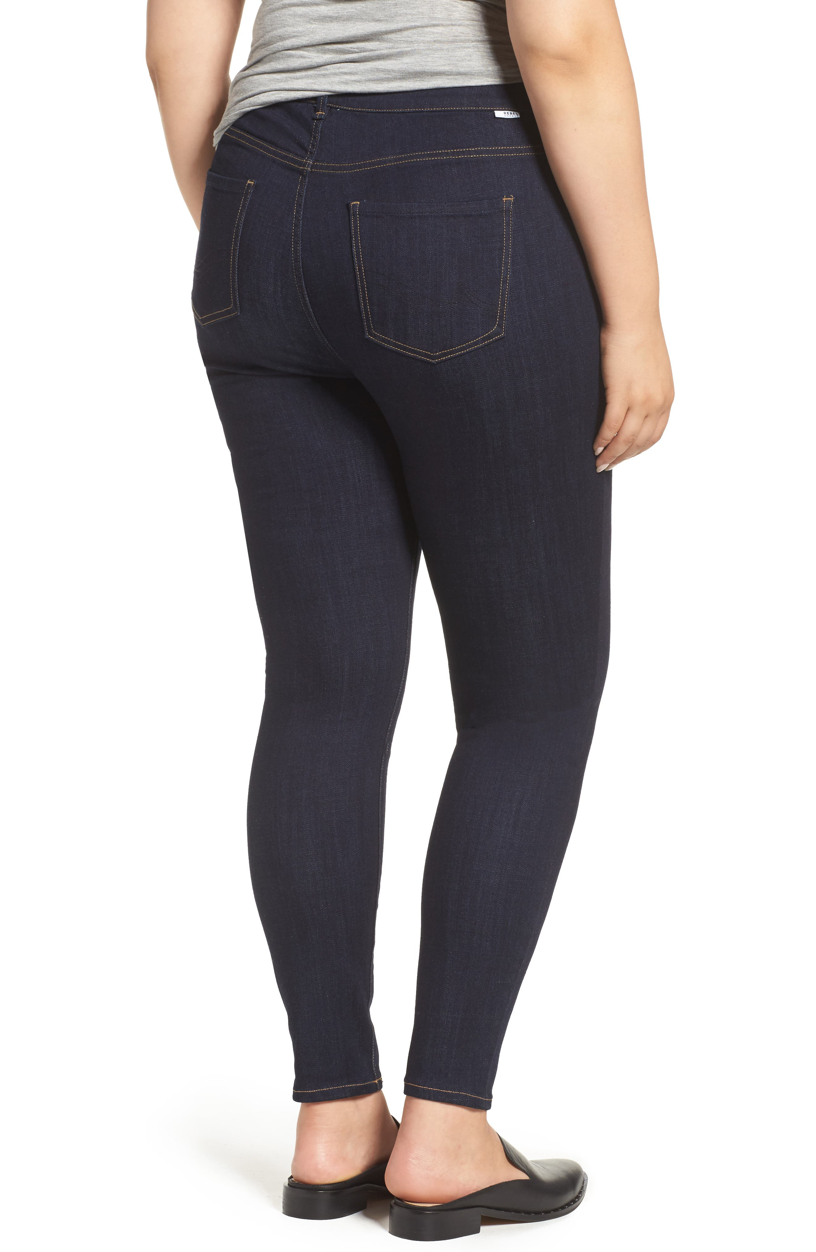 The Pin Up Super Skinny Jeans,                             Alternate thumbnail 10, color,