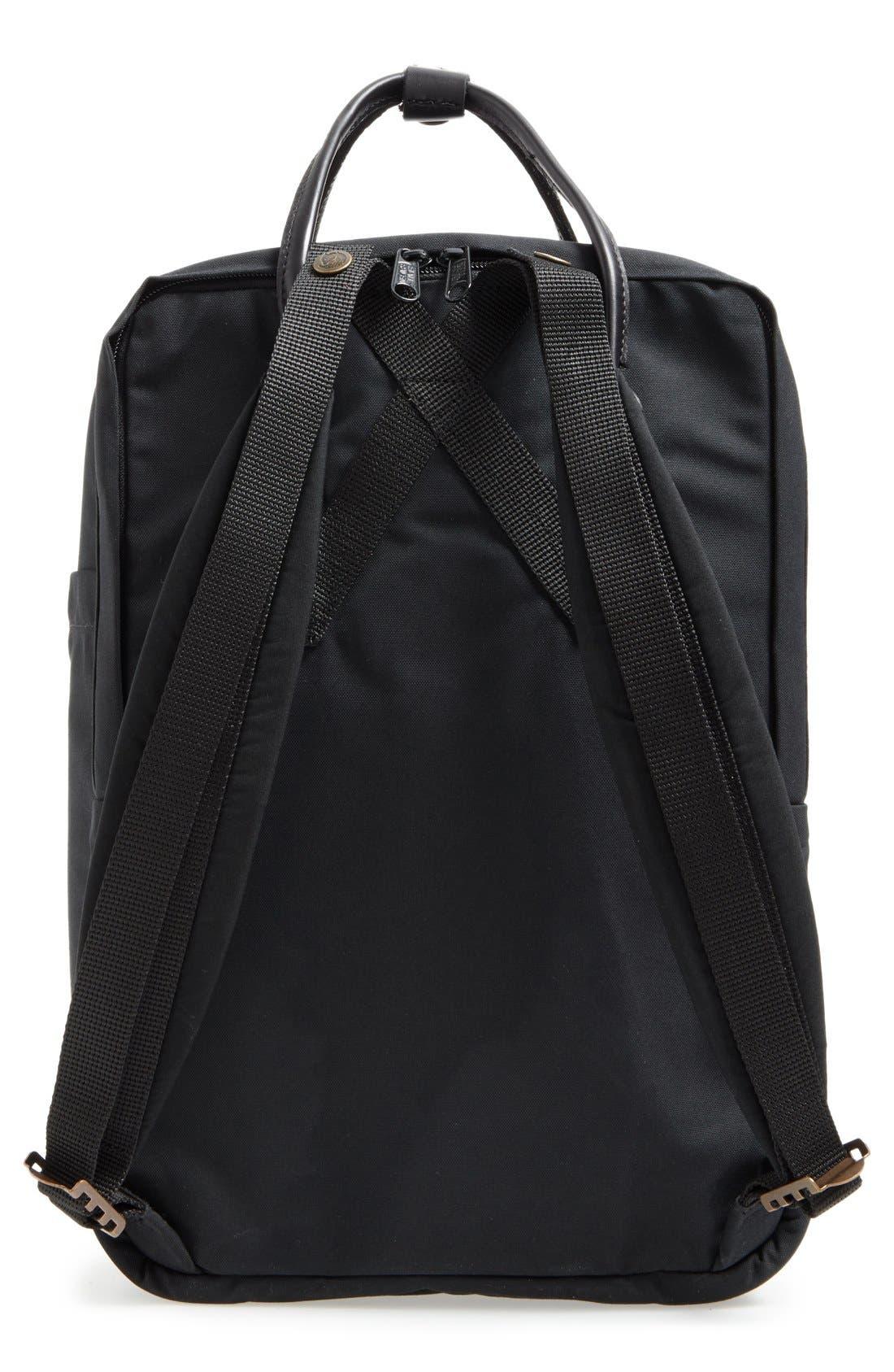 Kånken No. 2 Laptop Backpack,                             Alternate thumbnail 4, color,                             BLACK