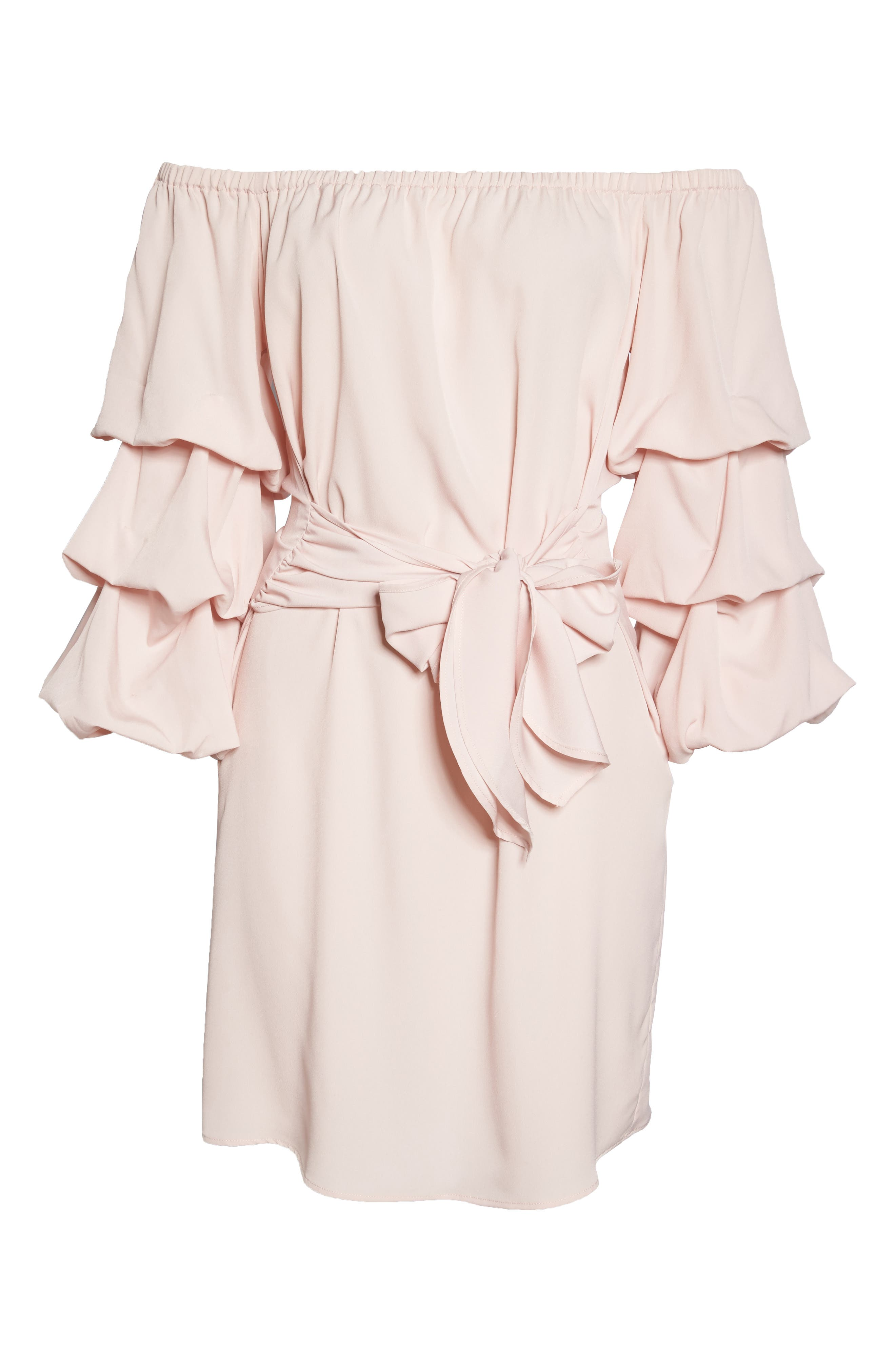 Off the Shoulder Tiered Sleeve Dress,                             Alternate thumbnail 21, color,