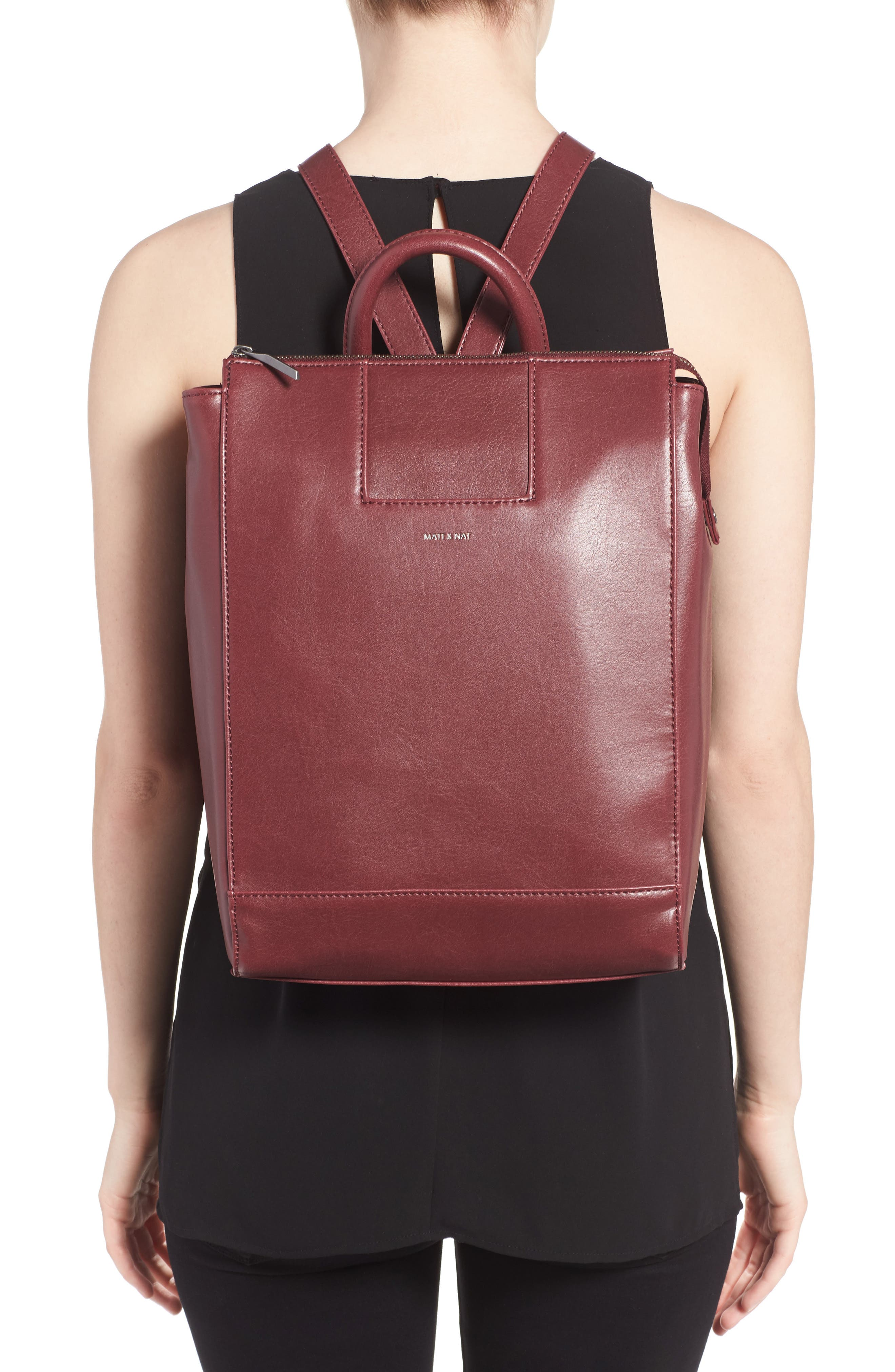 'Katherine' Faux Leather Backpack,                             Alternate thumbnail 13, color,