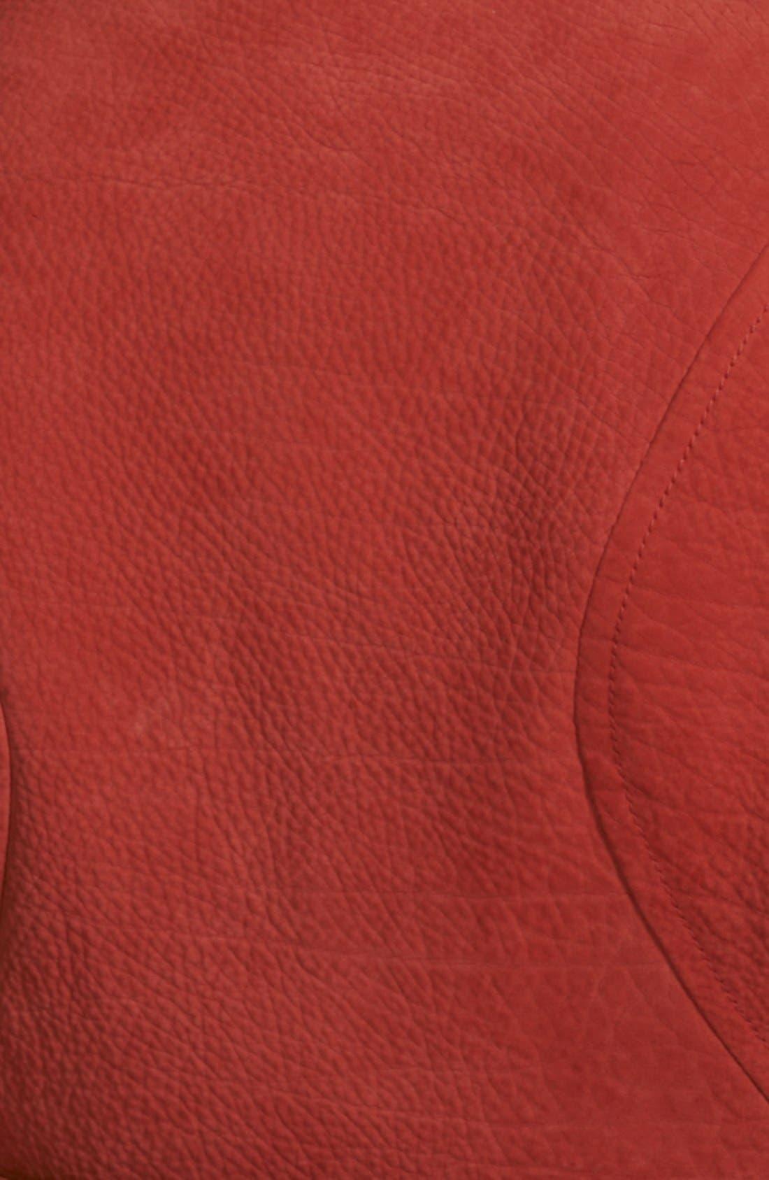Leather Biker Jacket,                             Alternate thumbnail 3, color,                             605