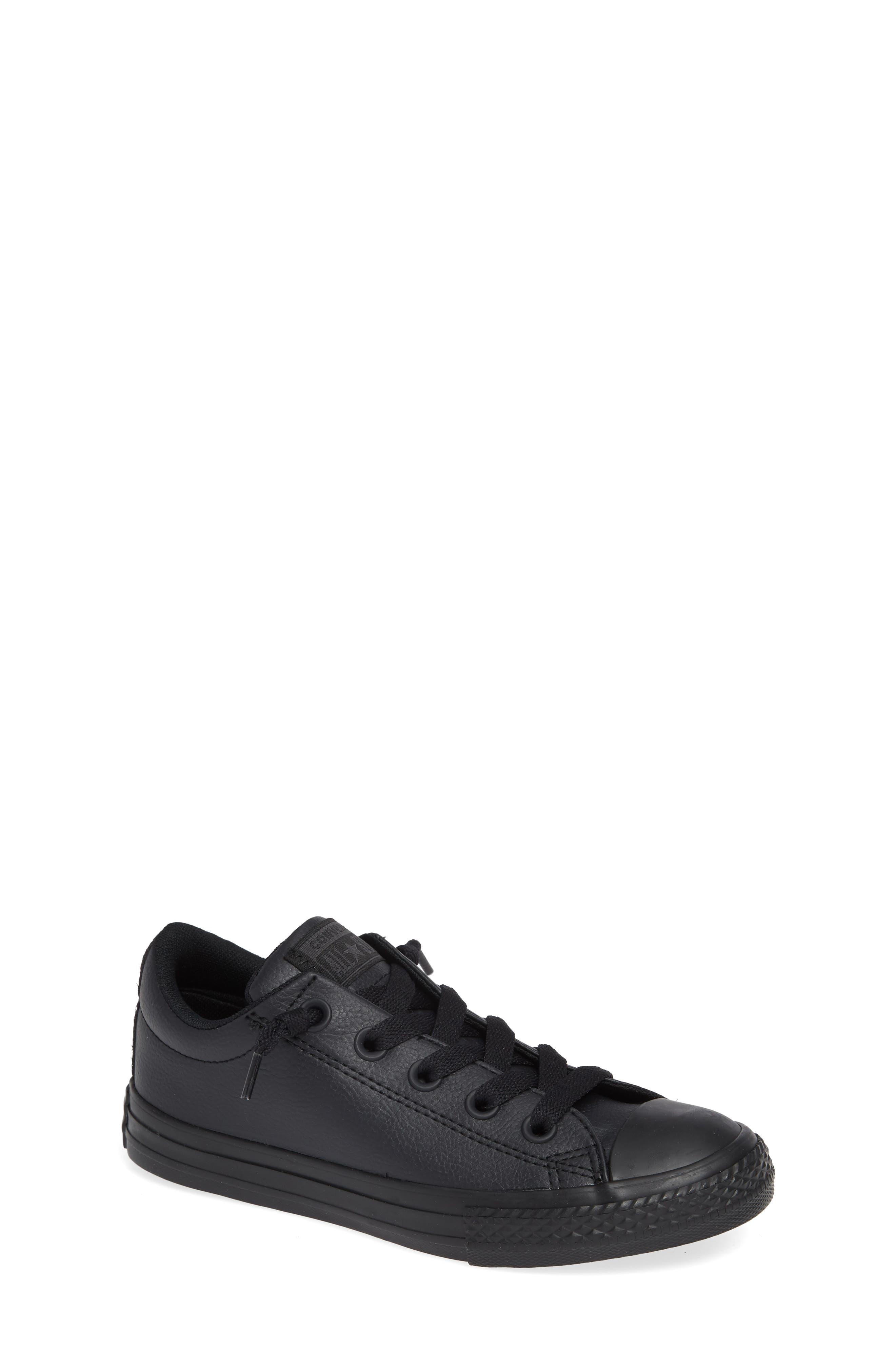 Chuck Taylor<sup>®</sup> All Star<sup>®</sup> 'Street Ox' Sneaker,                             Main thumbnail 1, color,                             BLACK MONO