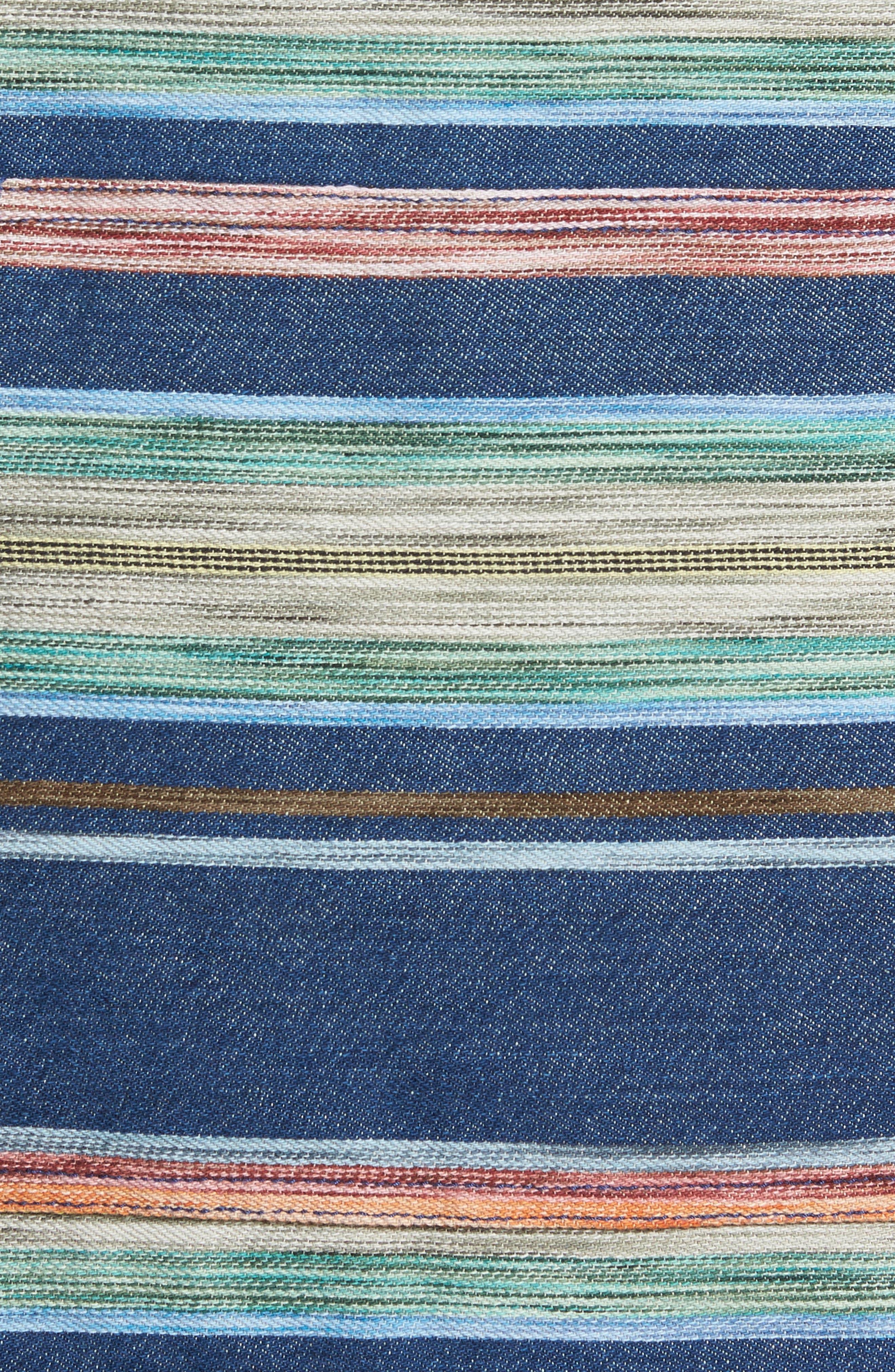 Bahia Baja Stripe Hoodie,                             Alternate thumbnail 5, color,                             400