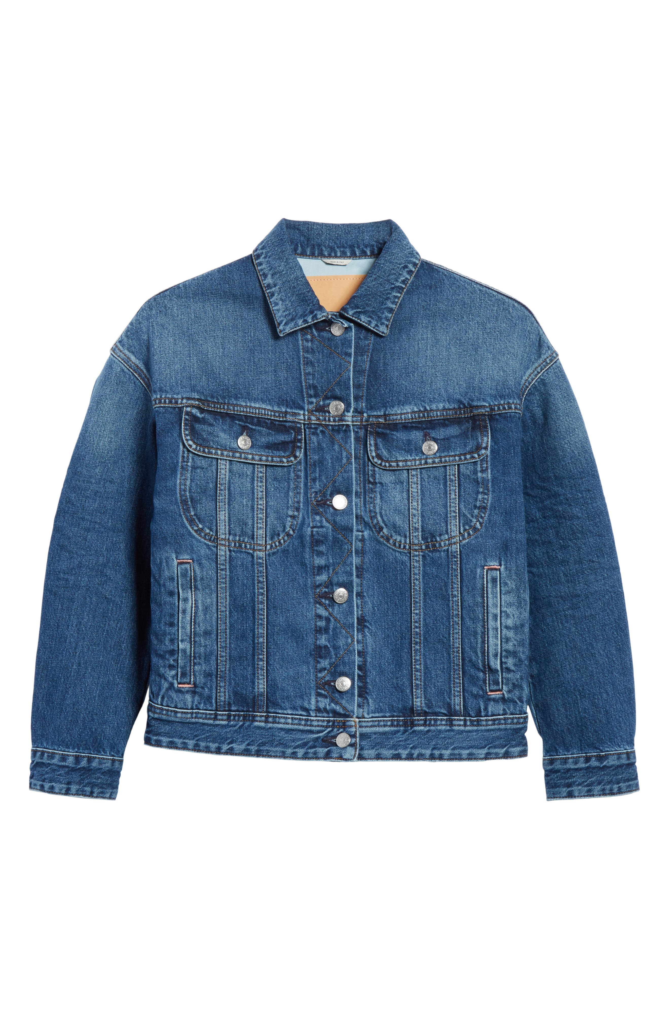 Lamp Denim Jacket,                             Alternate thumbnail 5, color,                             400