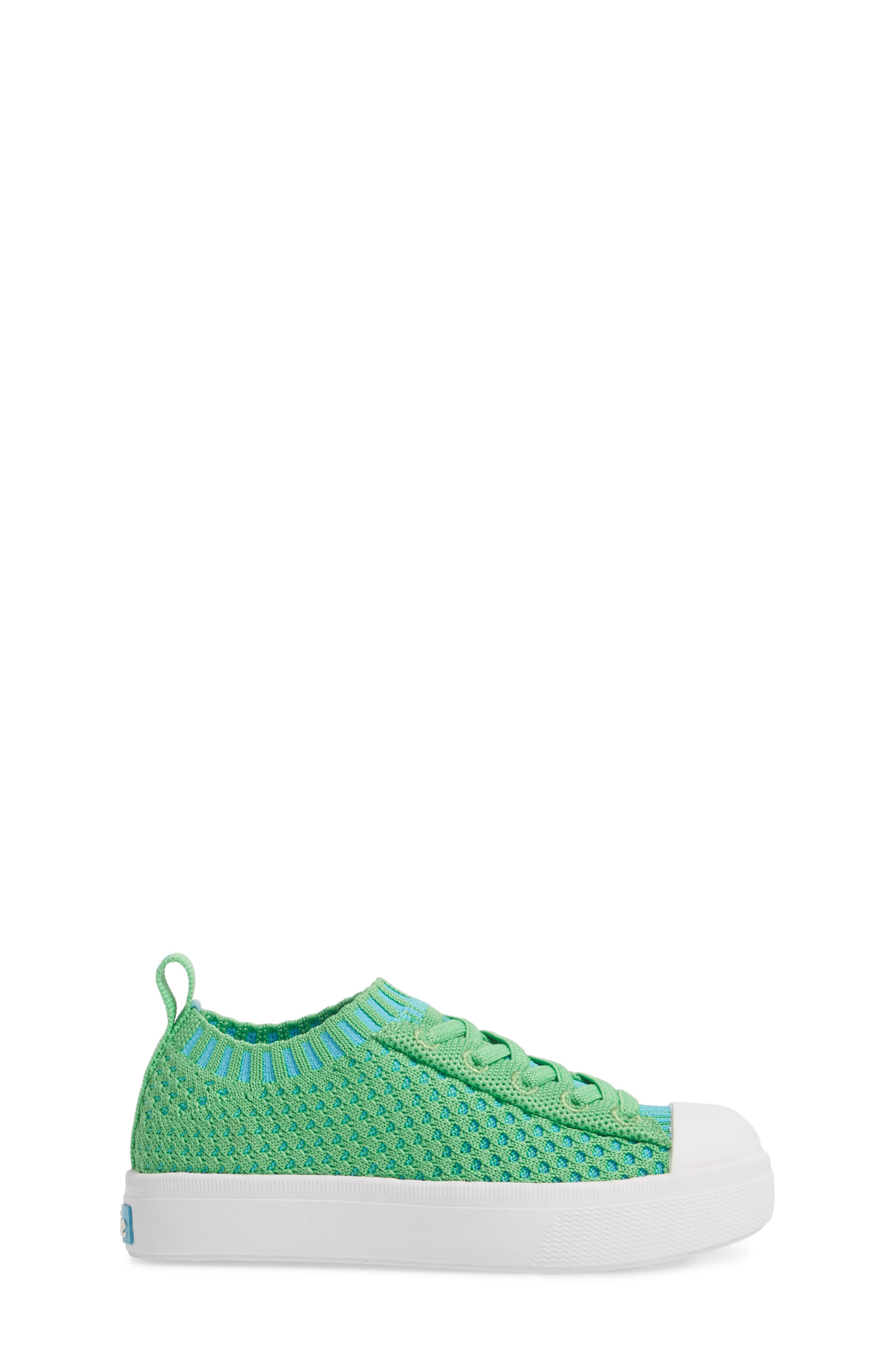 Native Jefferson 2.0 LiteKnit Sneaker,                             Alternate thumbnail 3, color,                             GRASS GREEN/ SHELL WHITE