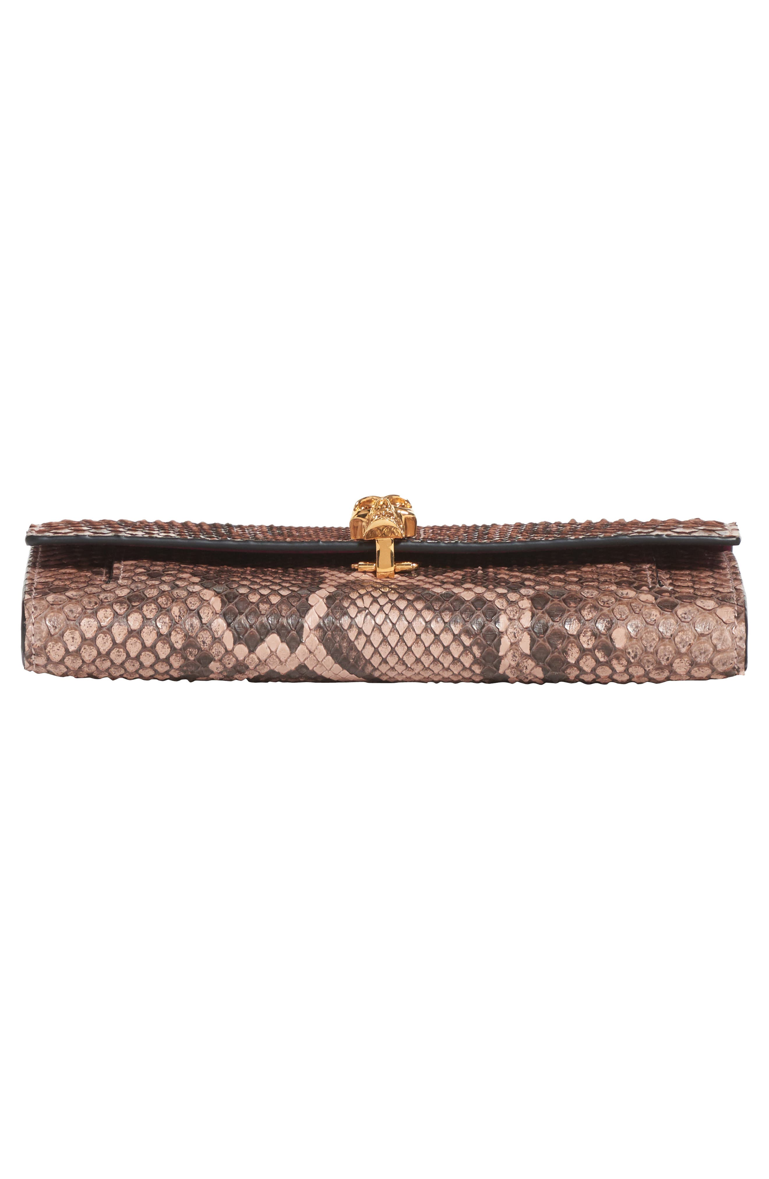Genuine Python Wallet on a Chain,                             Alternate thumbnail 5, color,                             NUDE/ BROWN