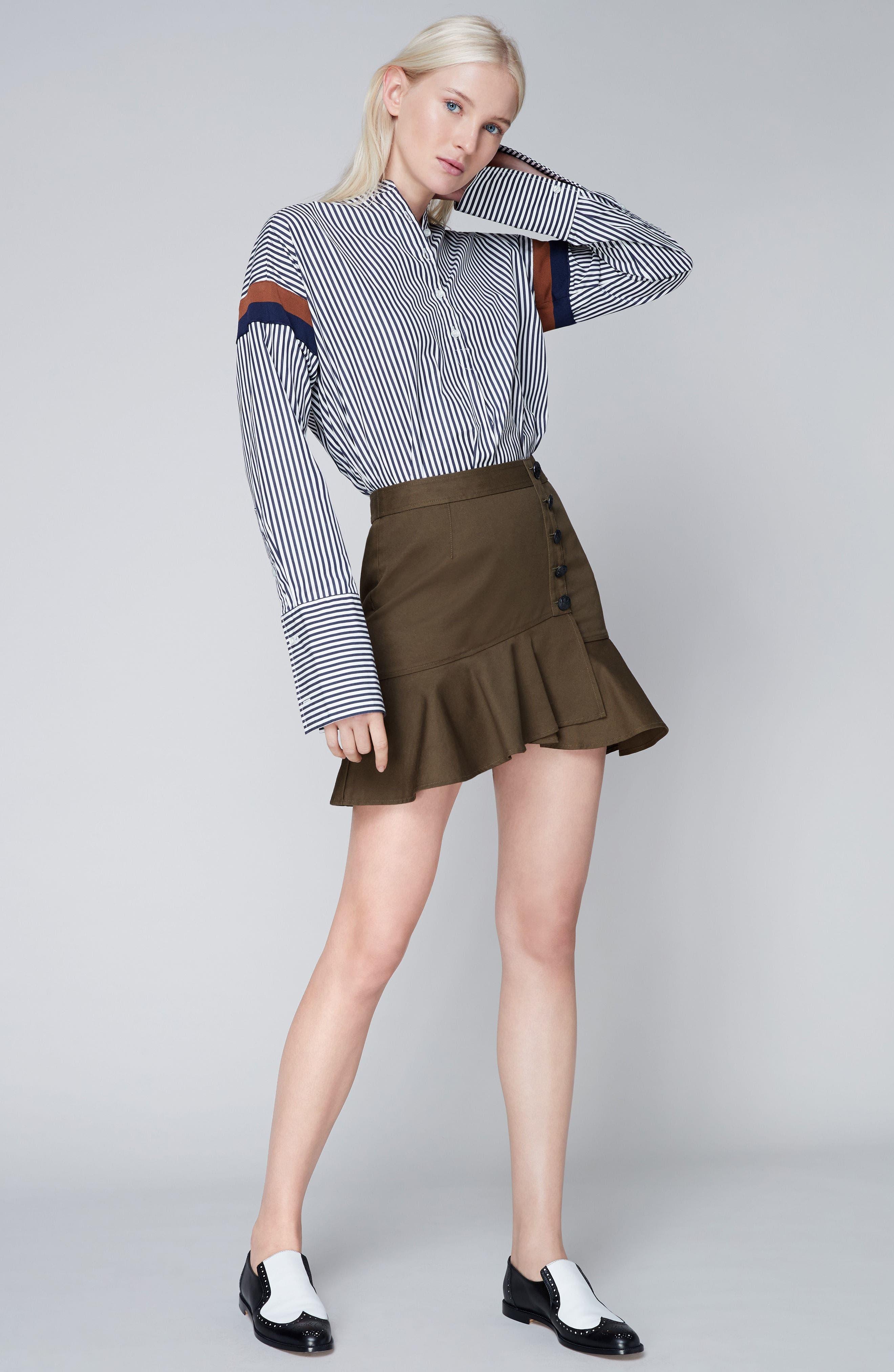 The Wallis Stripe Cotton Shirt,                             Alternate thumbnail 7, color,