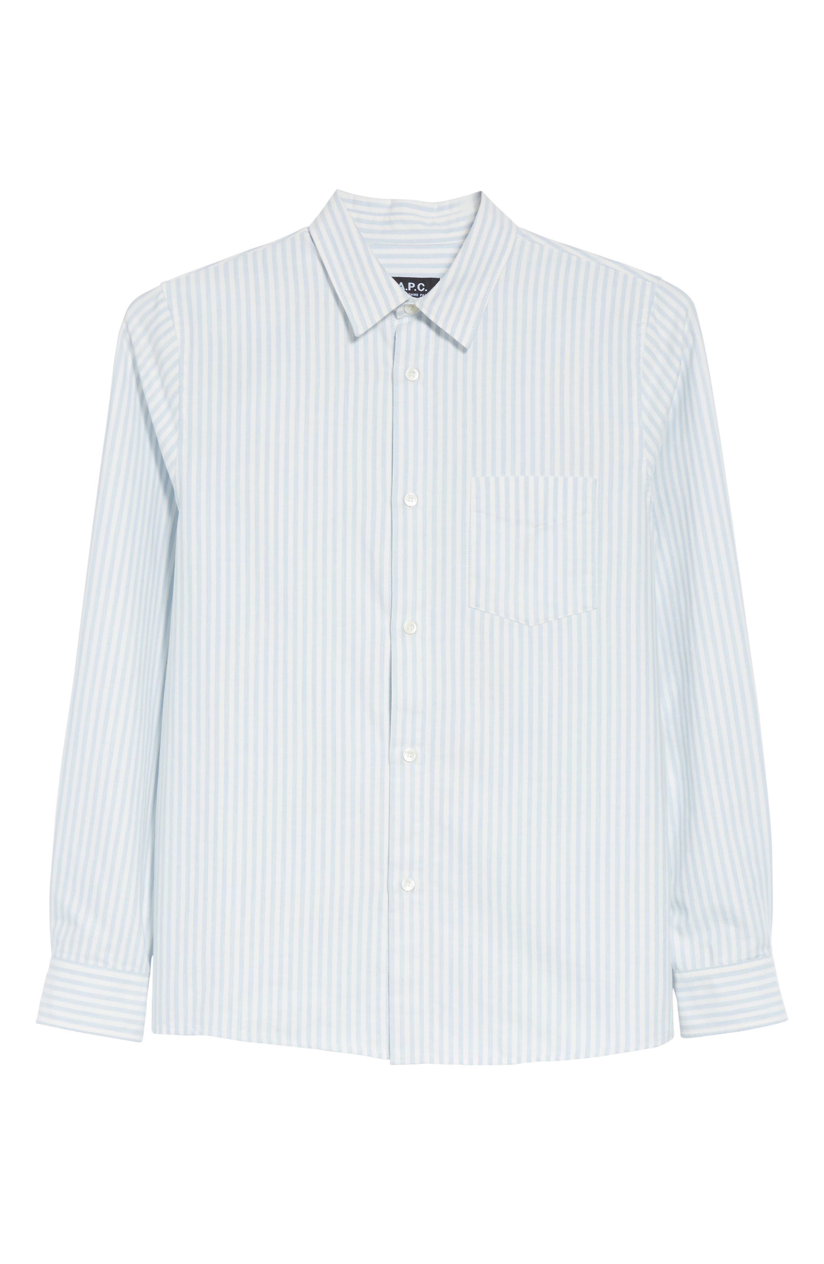 Oliver Stripe Oxford Shirt,                             Alternate thumbnail 6, color,                             430