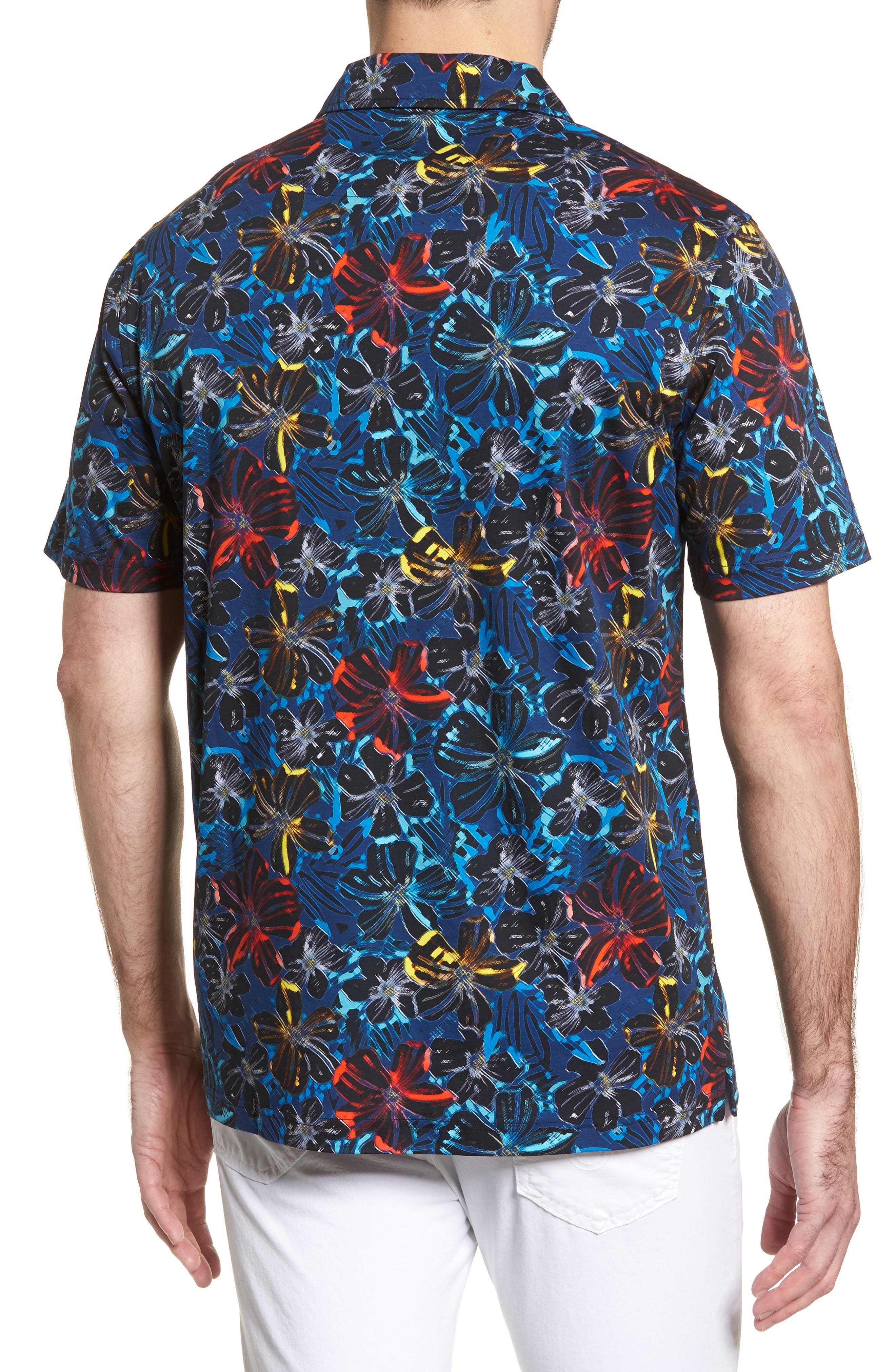 Classic Fit Floral Digital Print Polo,                             Alternate thumbnail 2, color,                             410