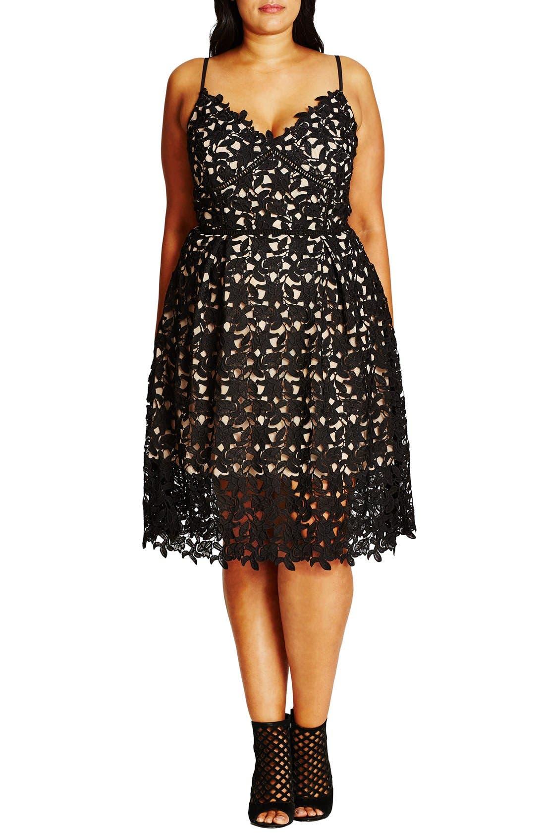 So Fancy Lace Dress,                         Main,                         color, BLACK