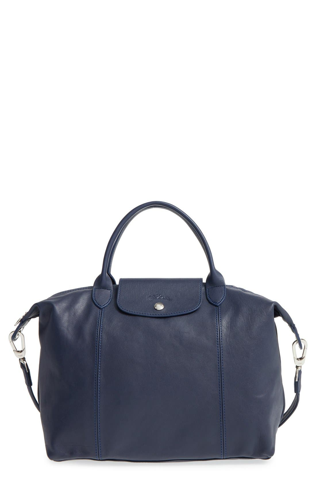 Medium 'Le Pliage Cuir' Leather Top Handle Tote,                             Main thumbnail 19, color,