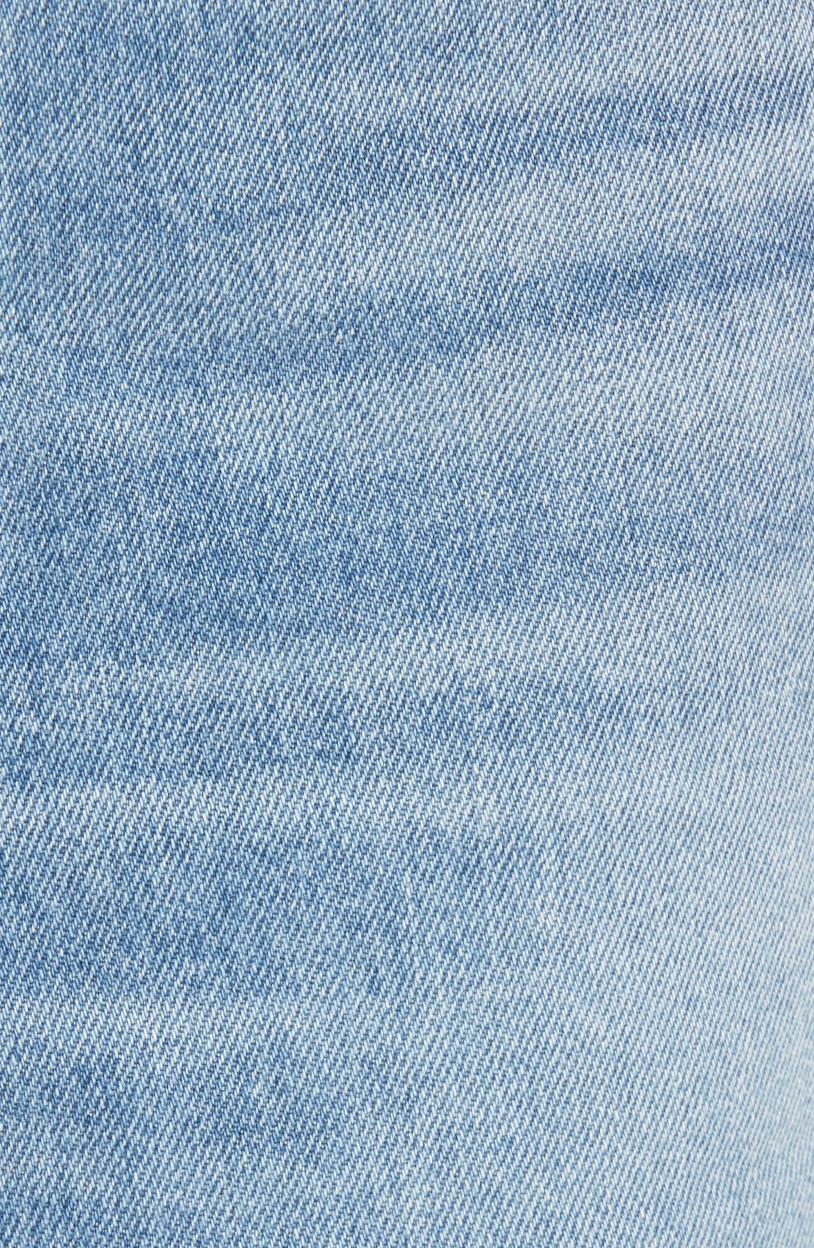 Quinn High Waist Denim Miniskirt,                             Alternate thumbnail 5, color,
