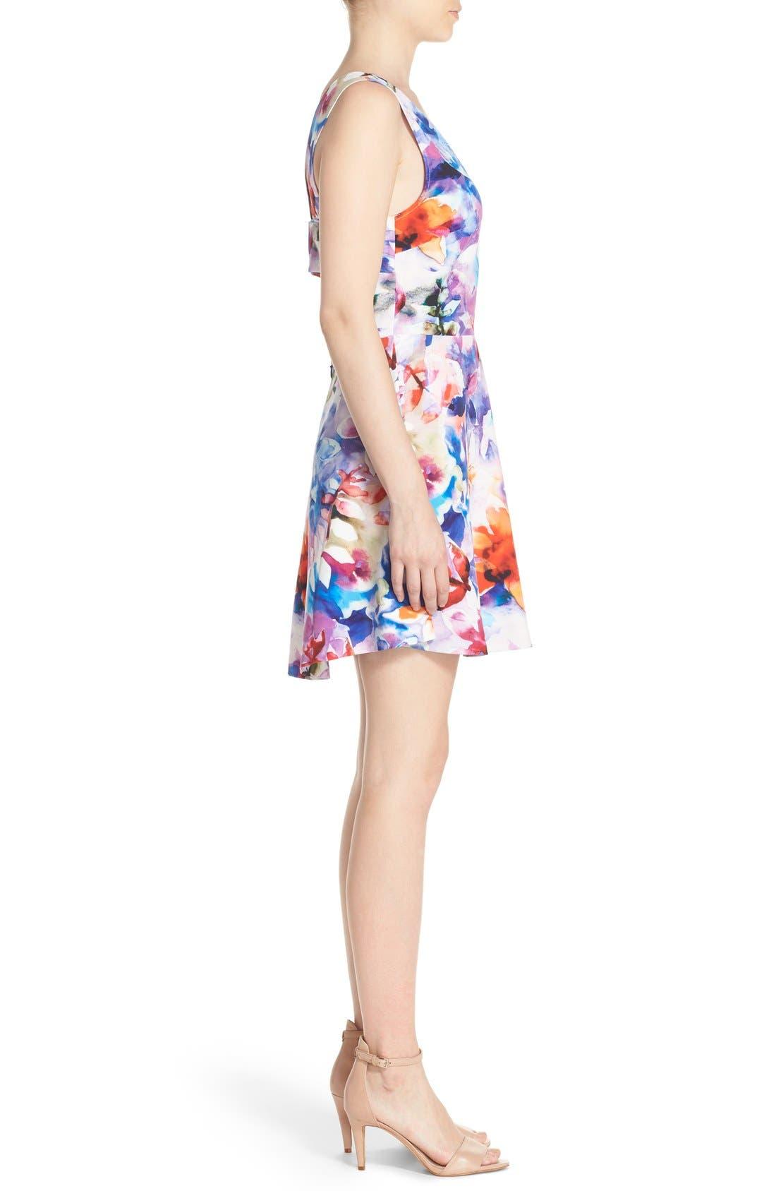 Bianca Back Cutout Fit & Flare Dress,                             Alternate thumbnail 37, color,