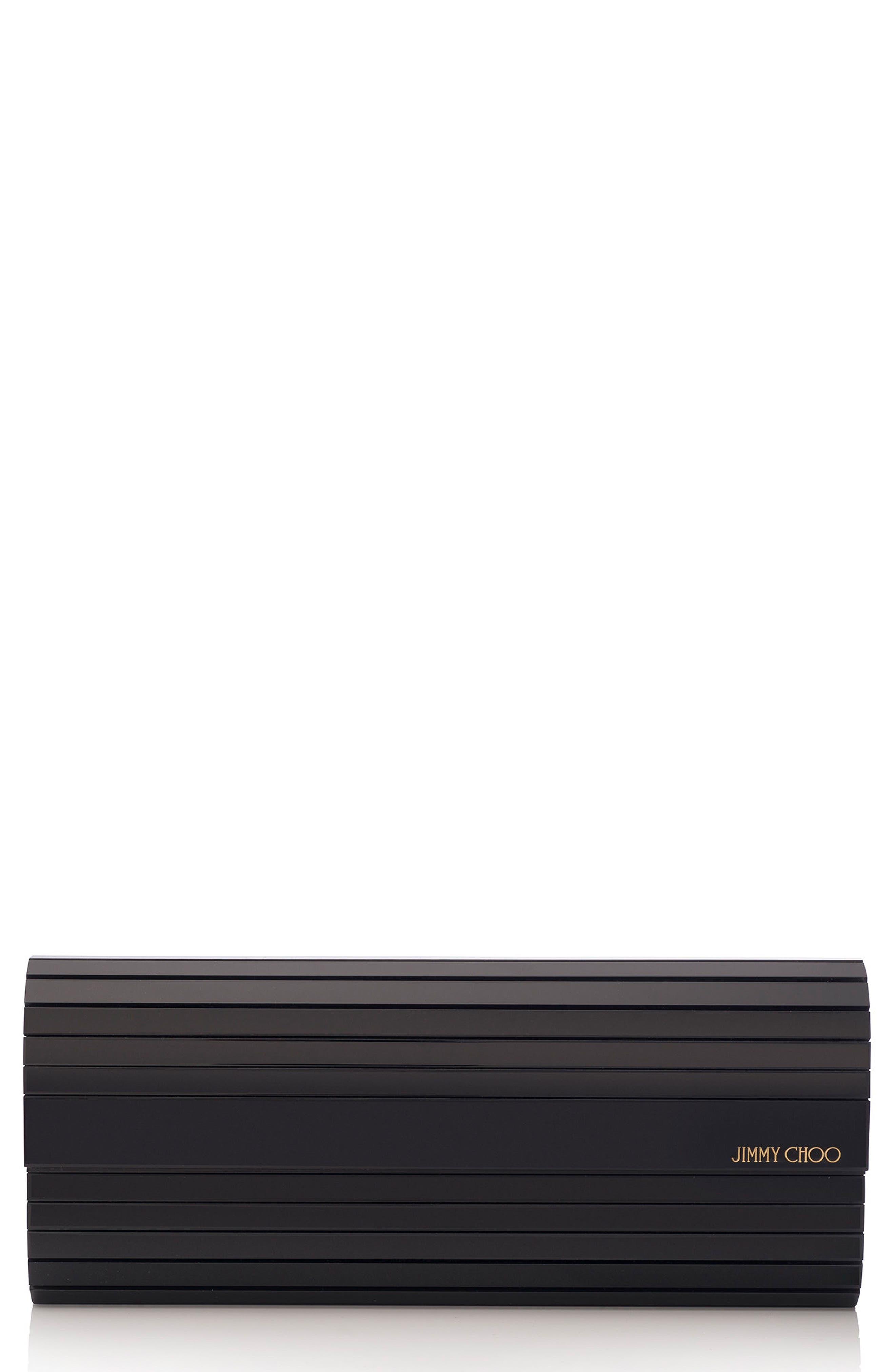 Sweetie Acrylic Clutch,                         Main,                         color, BLACK