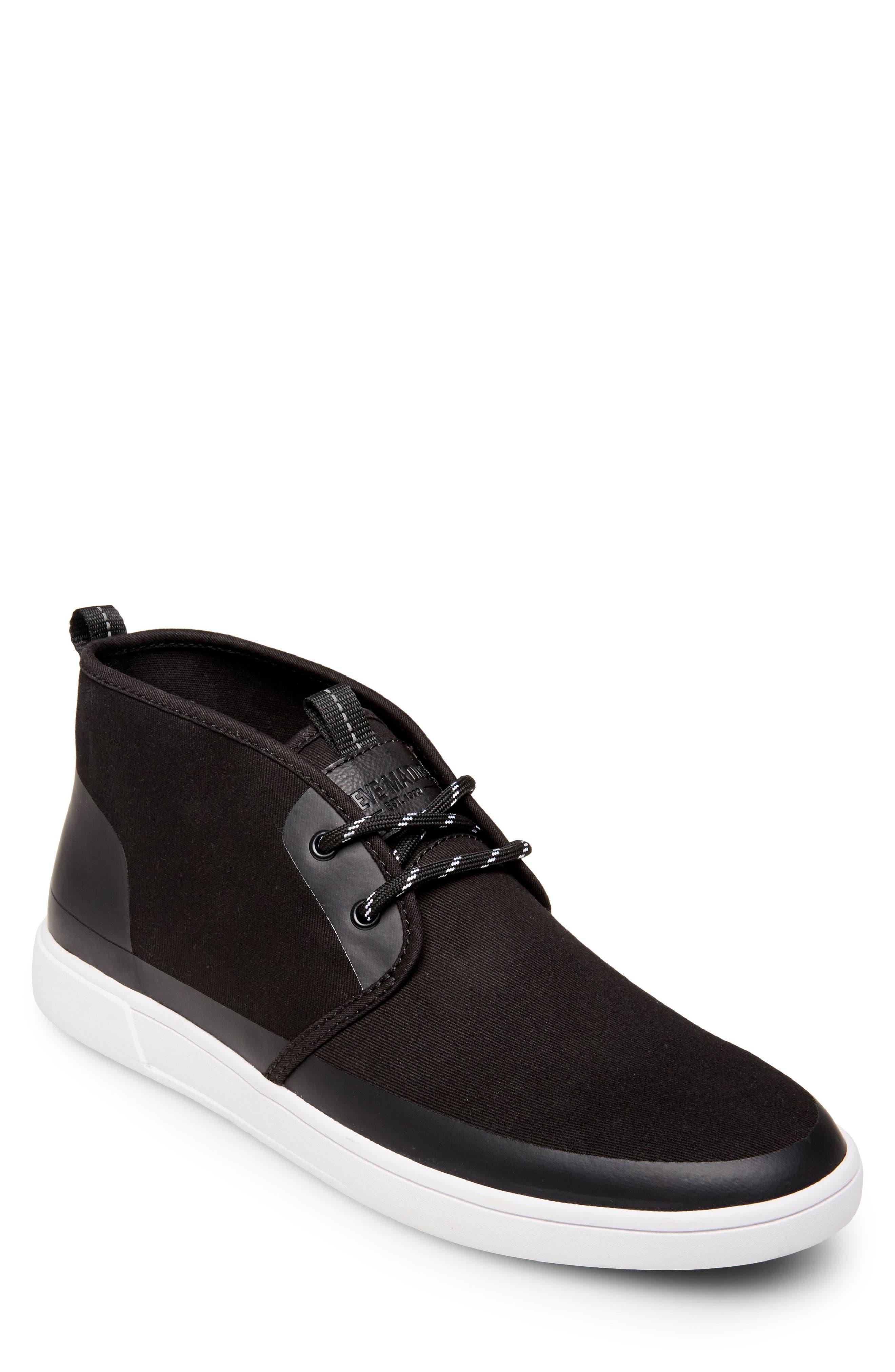 Franklyn Chukka Sneaker,                             Main thumbnail 1, color,                             BLACK FABRIC