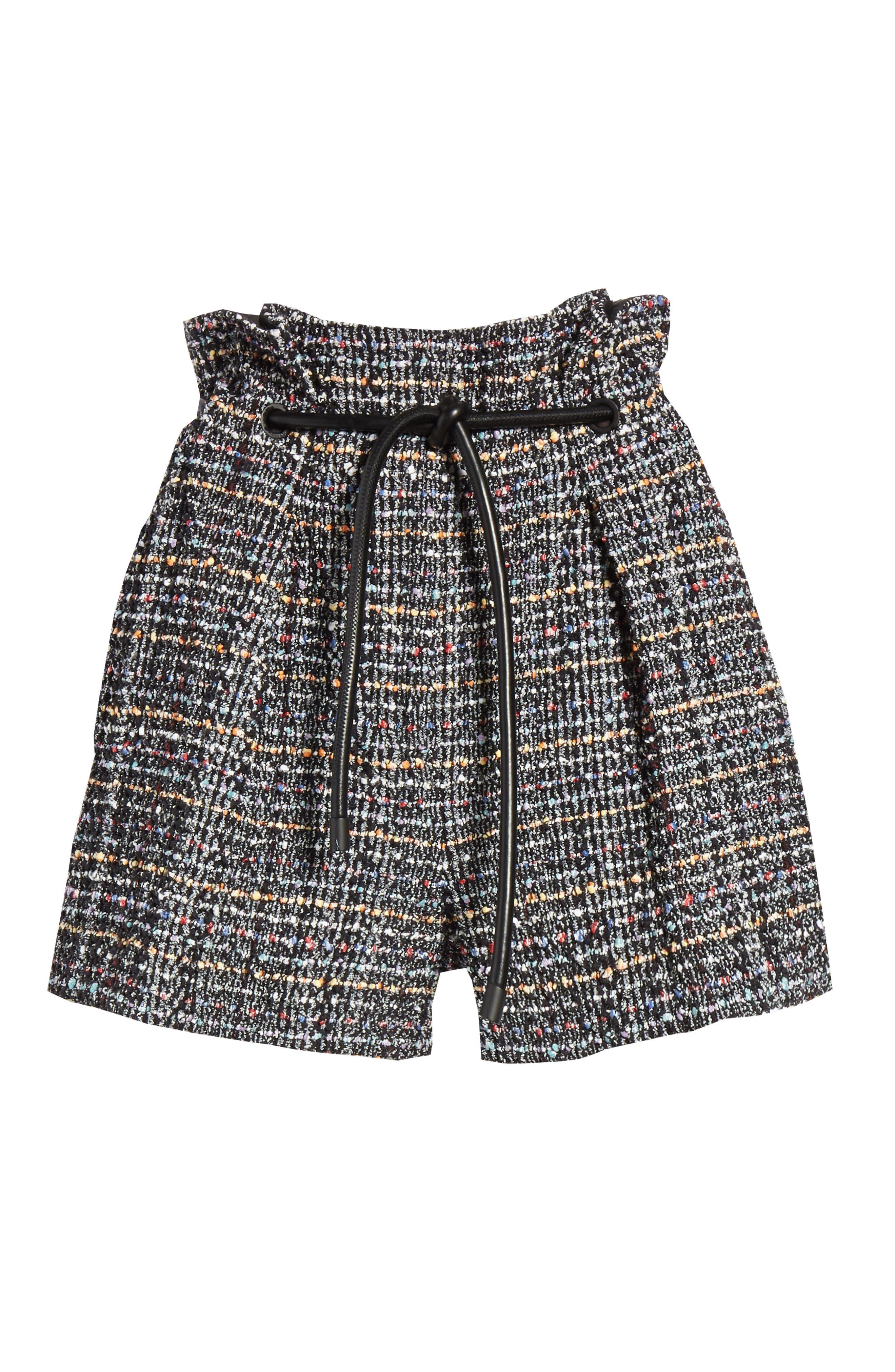 3.1 PHILLIP LIM,                             Paperbag Waist Tweed Shorts,                             Alternate thumbnail 6, color,                             014