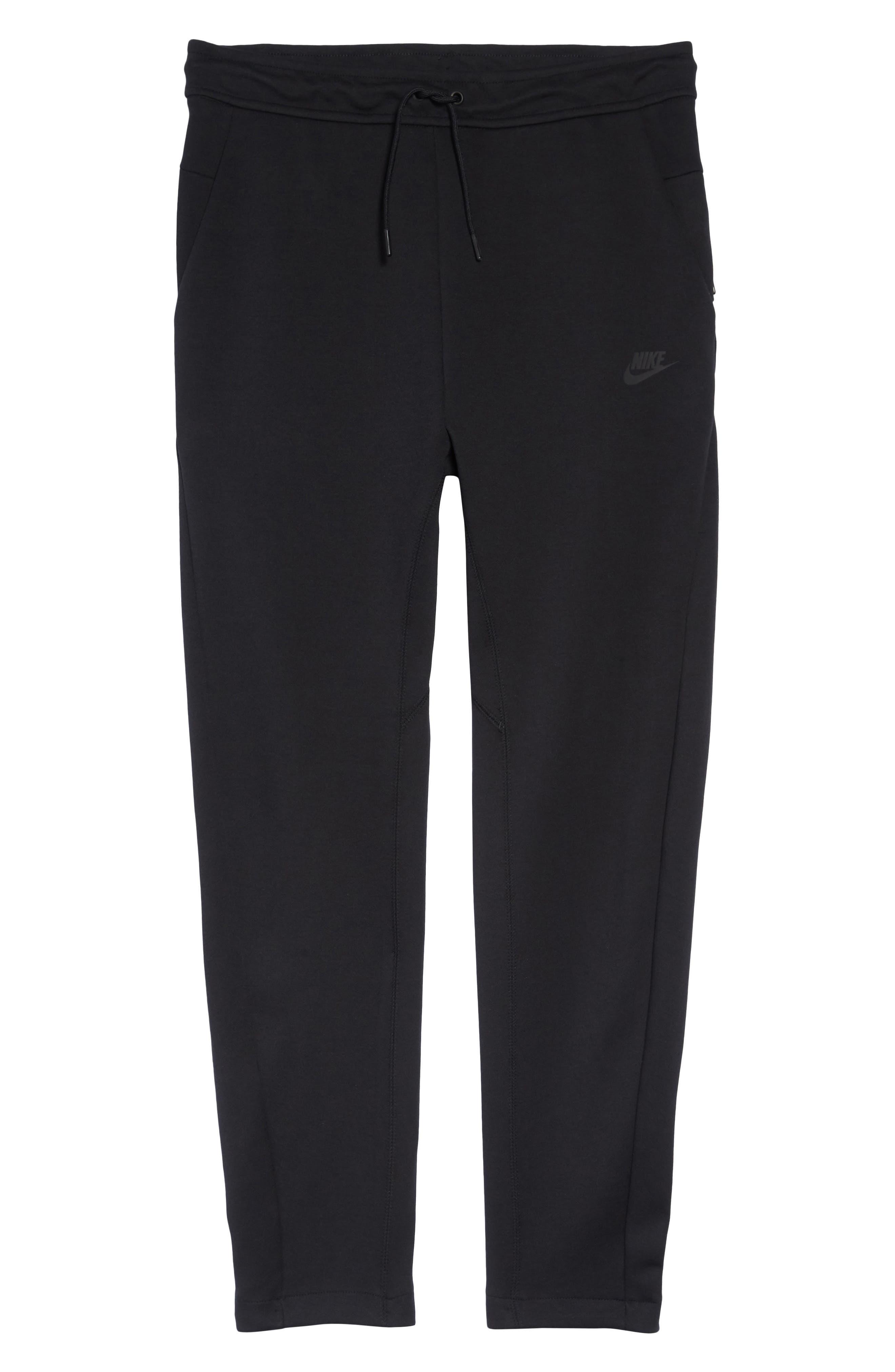Tech Fleece Pants,                             Alternate thumbnail 6, color,                             BLACK/ BLACK